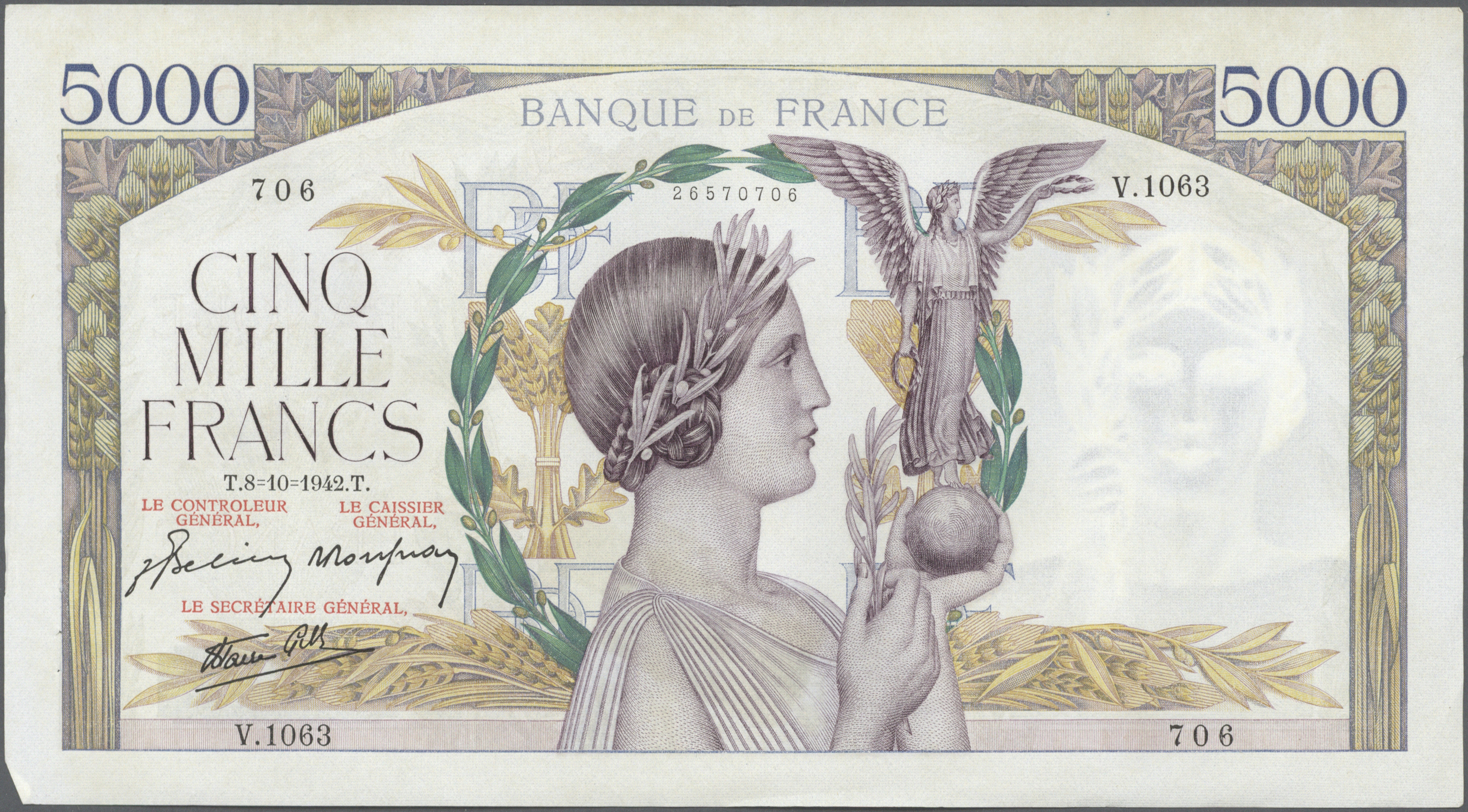 Lot 253 - France / Frankreich | Banknoten  -  Auktionshaus Christoph Gärtner GmbH & Co. KG Sale #49 Coins and Banknotes
