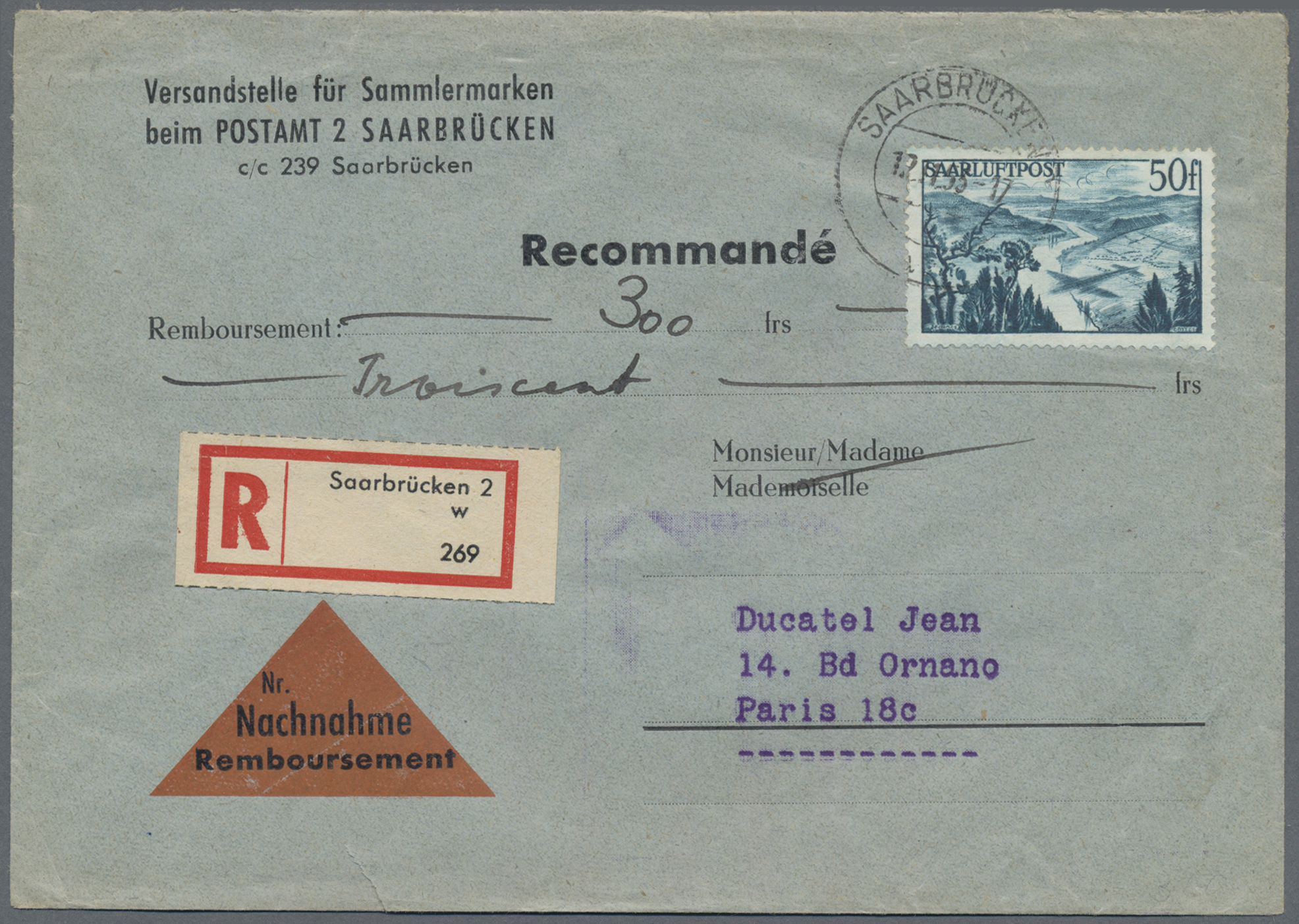 Lot 37518 - Saarland (1947/56)  -  Auktionshaus Christoph Gärtner GmbH & Co. KG Sale #44 Collections Germany