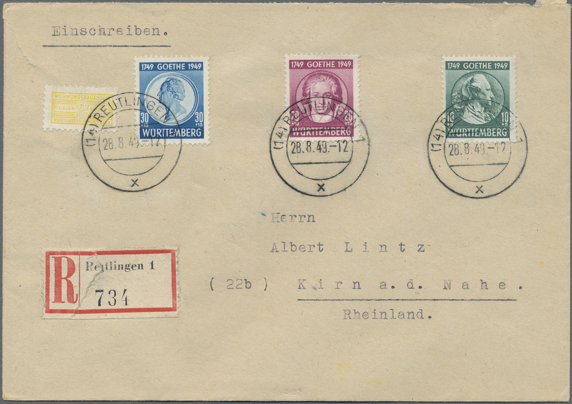 Lot 37510 - französische zone - württemberg  -  Auktionshaus Christoph Gärtner GmbH & Co. KG Sale #44 Collections Germany