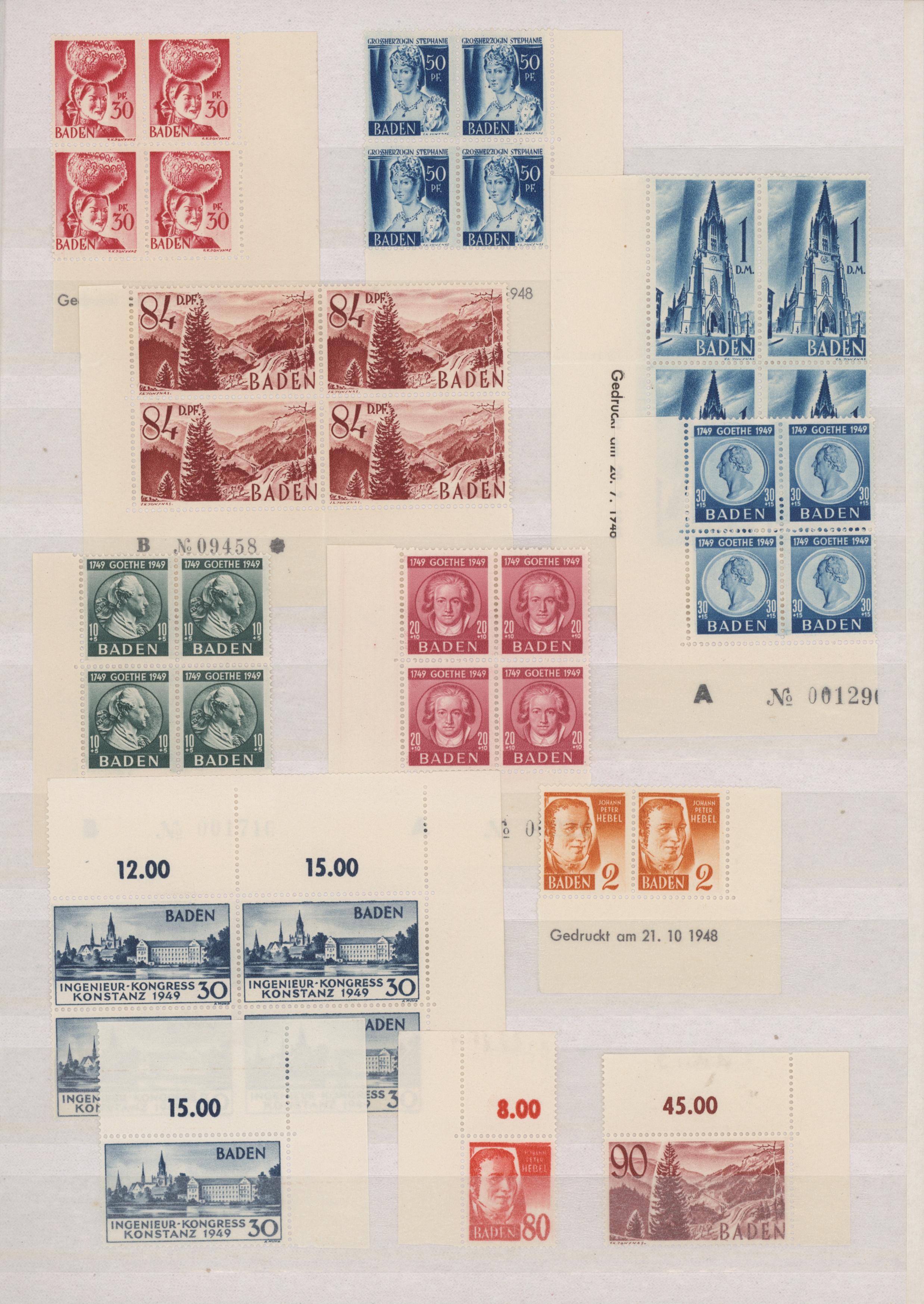 Lot 24345 - französische zone - baden  -  Auktionshaus Christoph Gärtner GmbH & Co. KG 50th Auction Anniversary Auction - Day 7