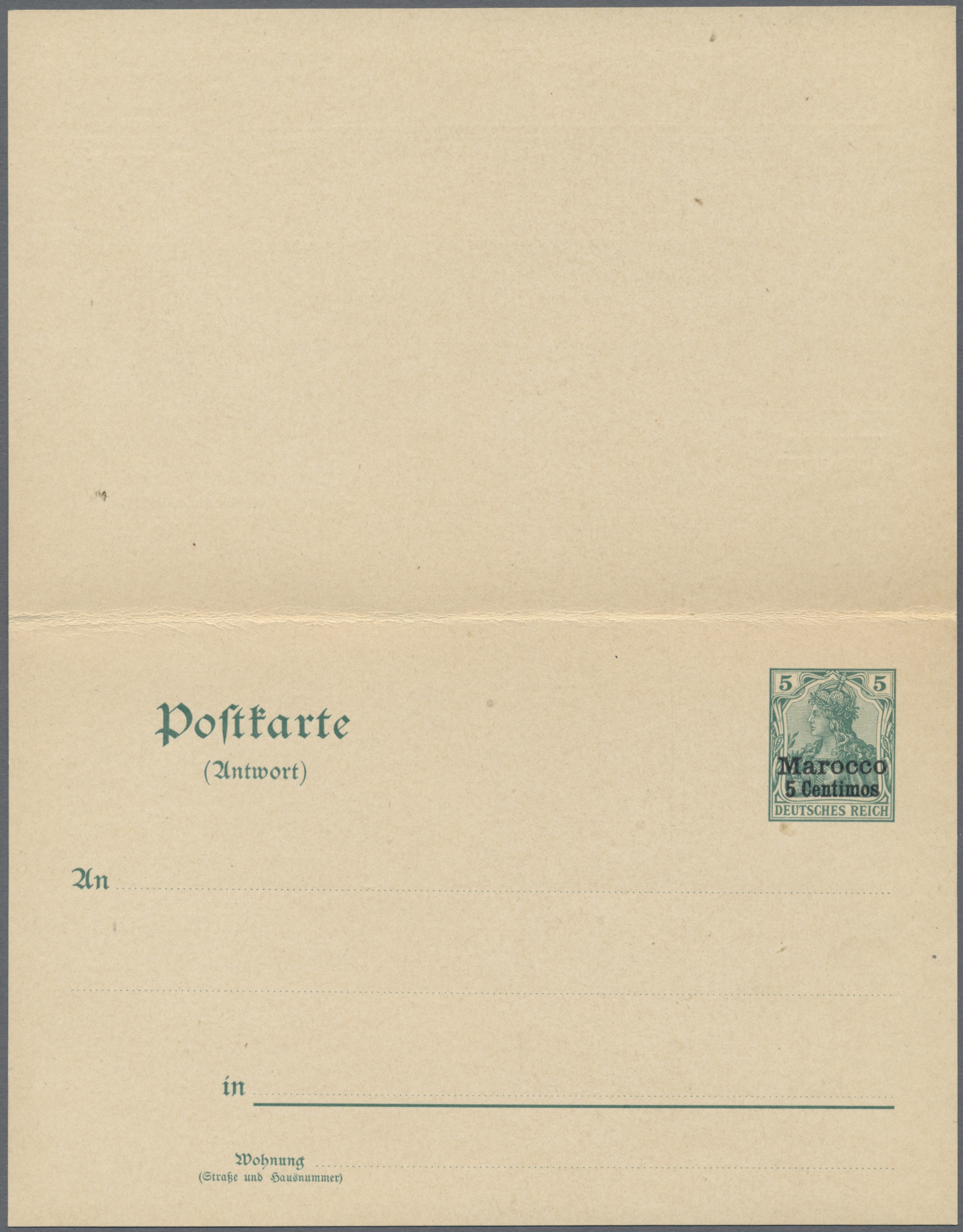 Lot 22090 - Deutsche Post in Marokko - Ganzsachen  -  Auktionshaus Christoph Gärtner GmbH & Co. KG Single lots Germany + Picture Postcards. Auction #39 Day 5