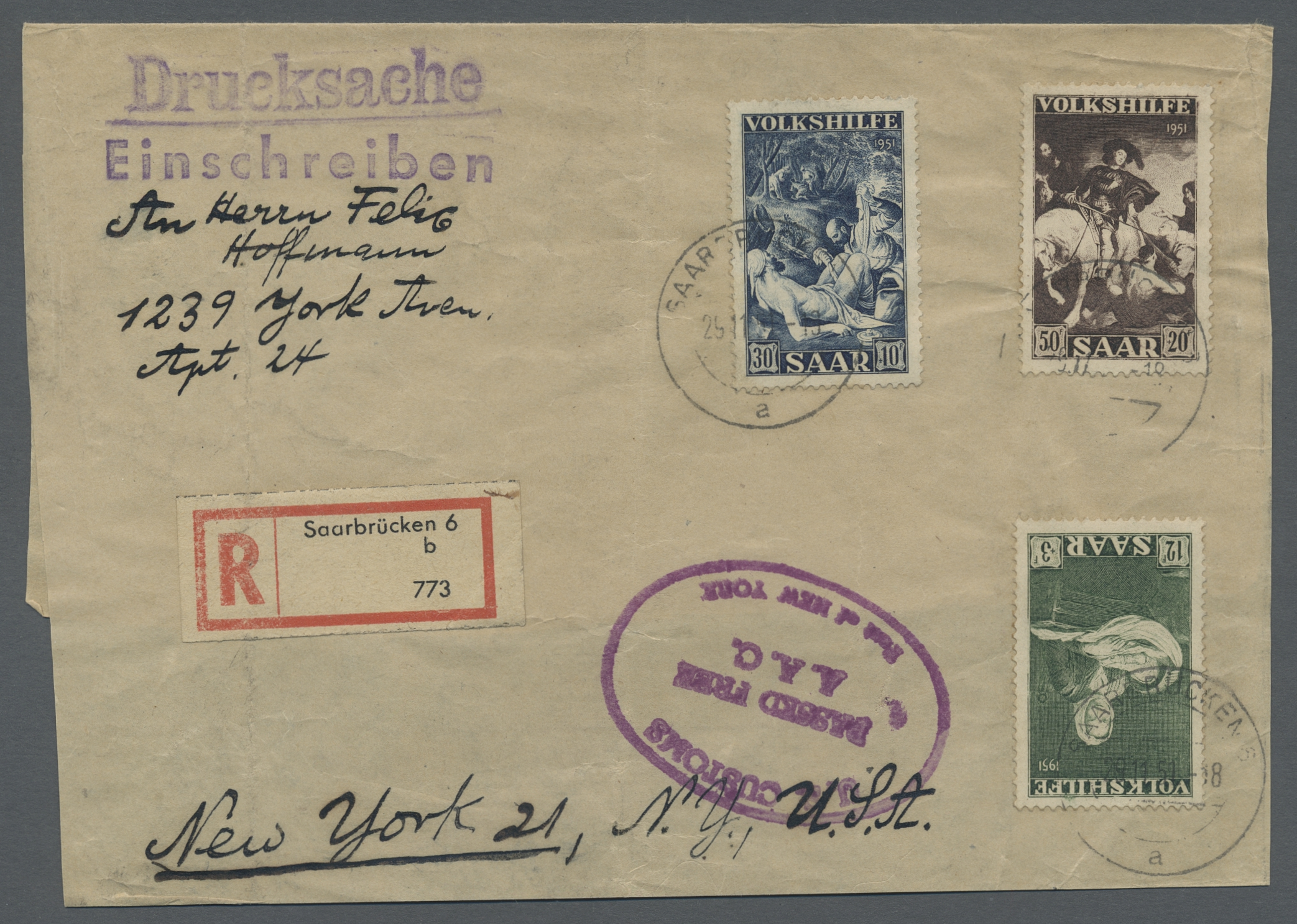 Lot 17519 - Saarland (1947/56)  -  Auktionshaus Christoph Gärtner GmbH & Co. KG Sale #46 Single lots Germany - and picture post cards