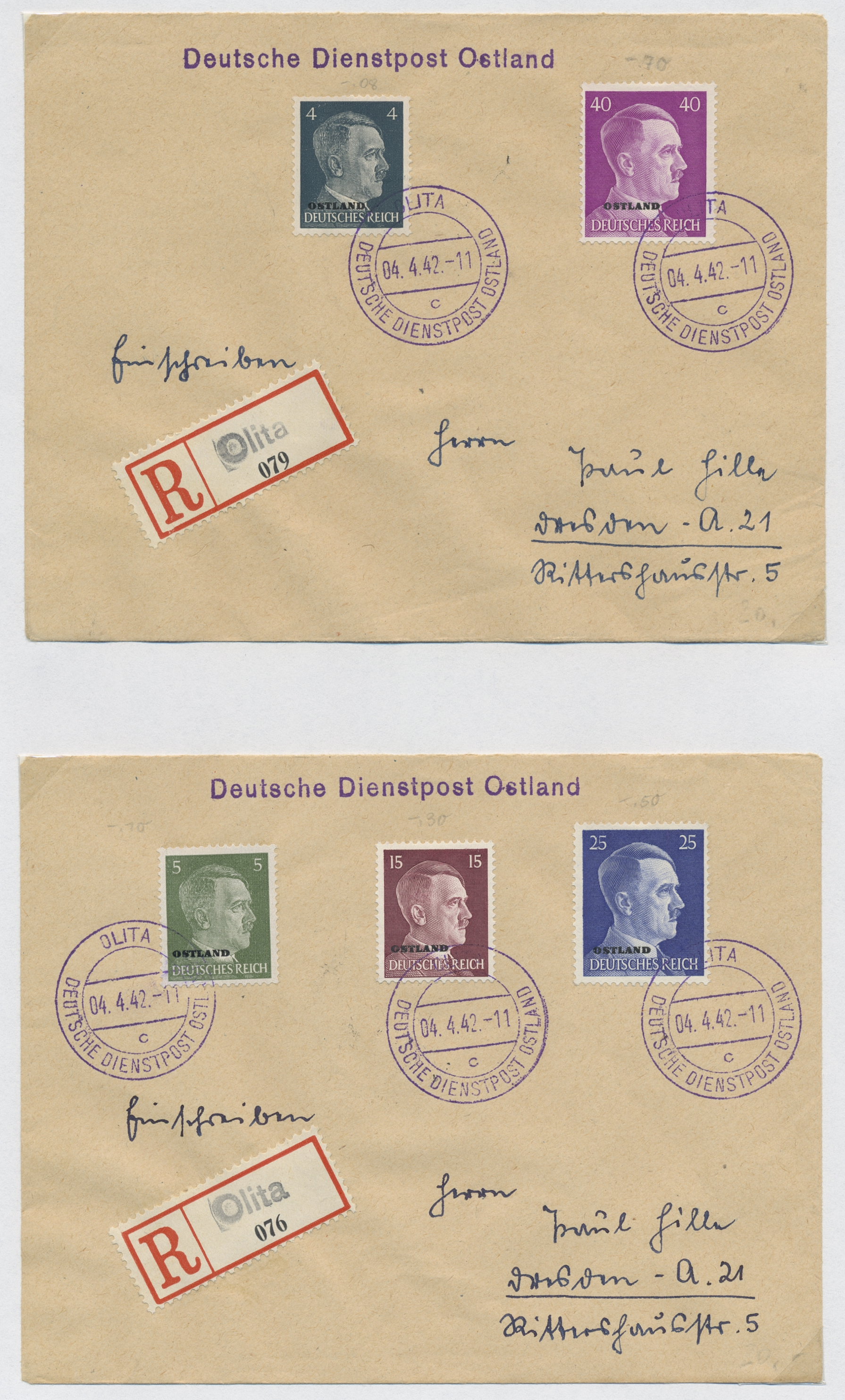 Lot 37134 - Dt. Besetzung II WK - Ostland  -  Auktionshaus Christoph Gärtner GmbH & Co. KG Sale #44 Collections Germany