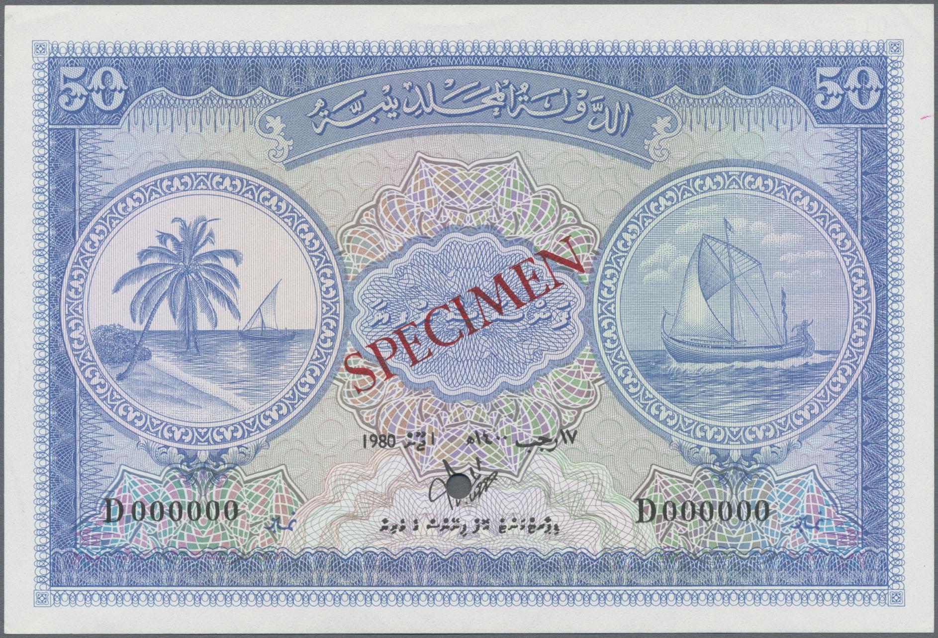 Lot 00514 - Maldives / Malediven   Banknoten  -  Auktionshaus Christoph Gärtner GmbH & Co. KG Sale #48 The Banknotes