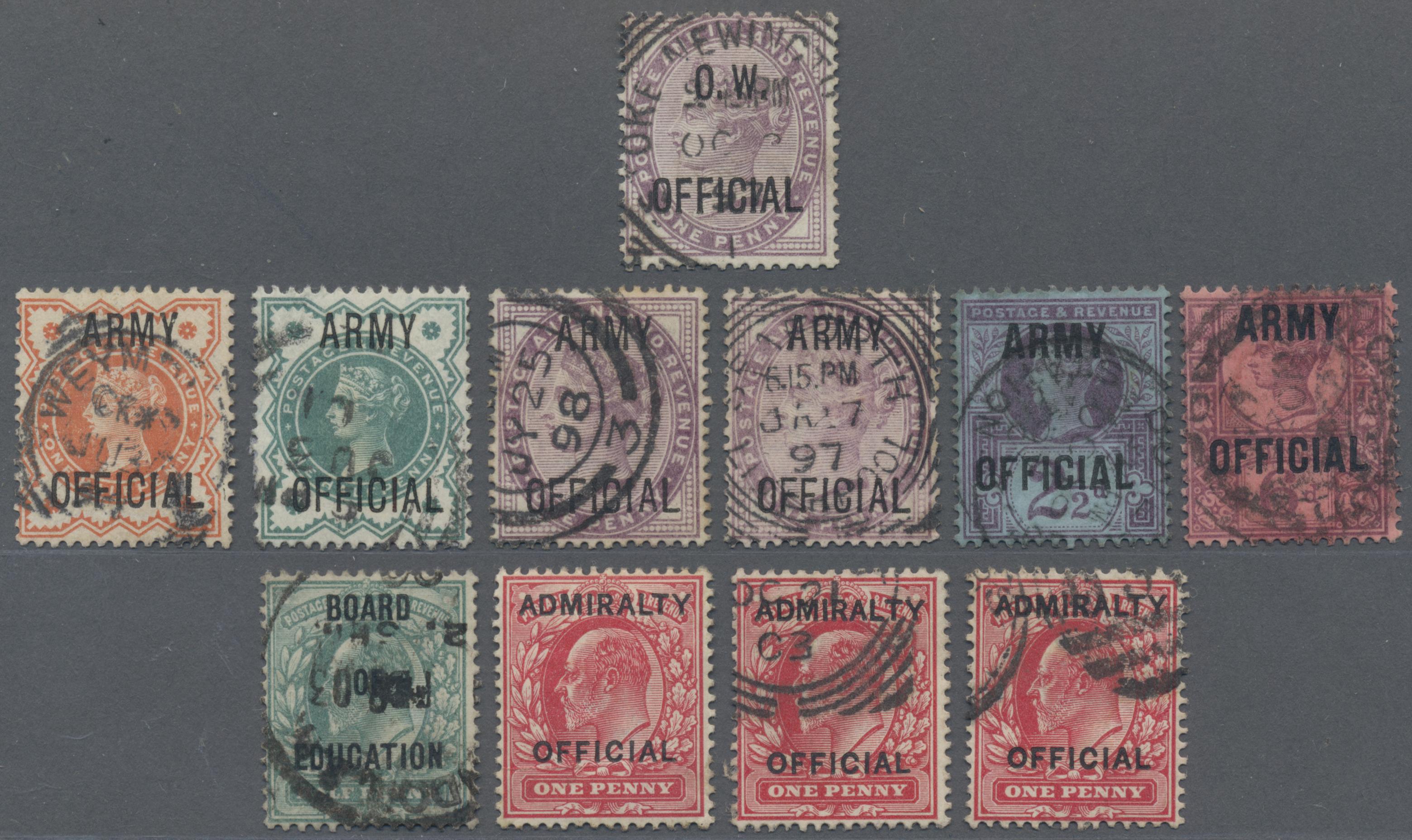 Lot 18502 - Großbritannien - Dienstmarken  -  Auktionshaus Christoph Gärtner GmbH & Co. KG 50th Auction Anniversary Auction - Day 5