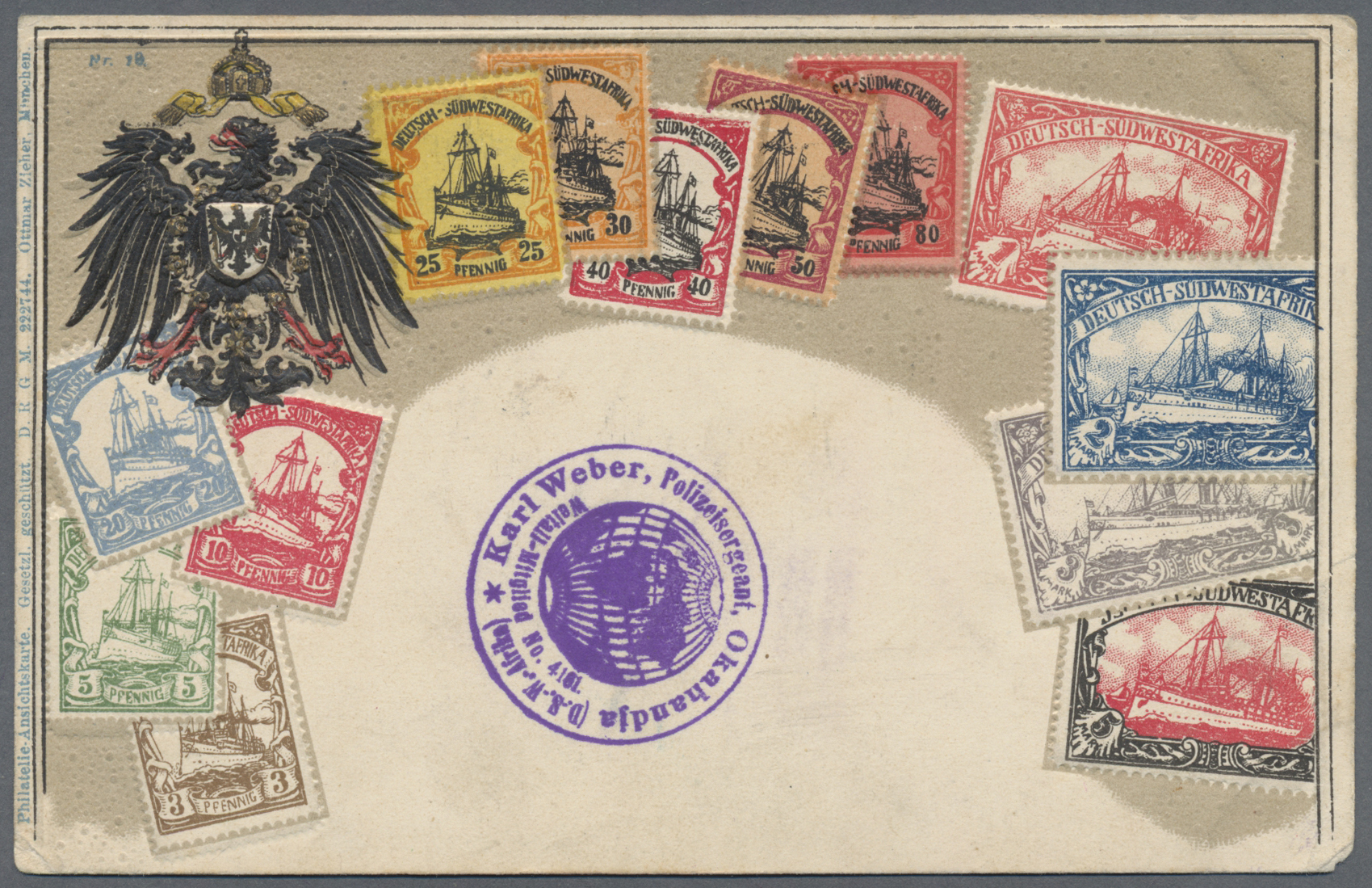 Lot 22682 - Deutsch-Südwestafrika - Stempel  -  Auktionshaus Christoph Gärtner GmbH & Co. KG Sale #44 Germany, Picture Post cards