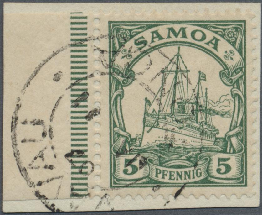 Lot 22559 - Deutsche Kolonien - Samoa - Stempel  -  Auktionshaus Christoph Gärtner GmbH & Co. KG Single lots Germany + Picture Postcards. Auction #39 Day 5