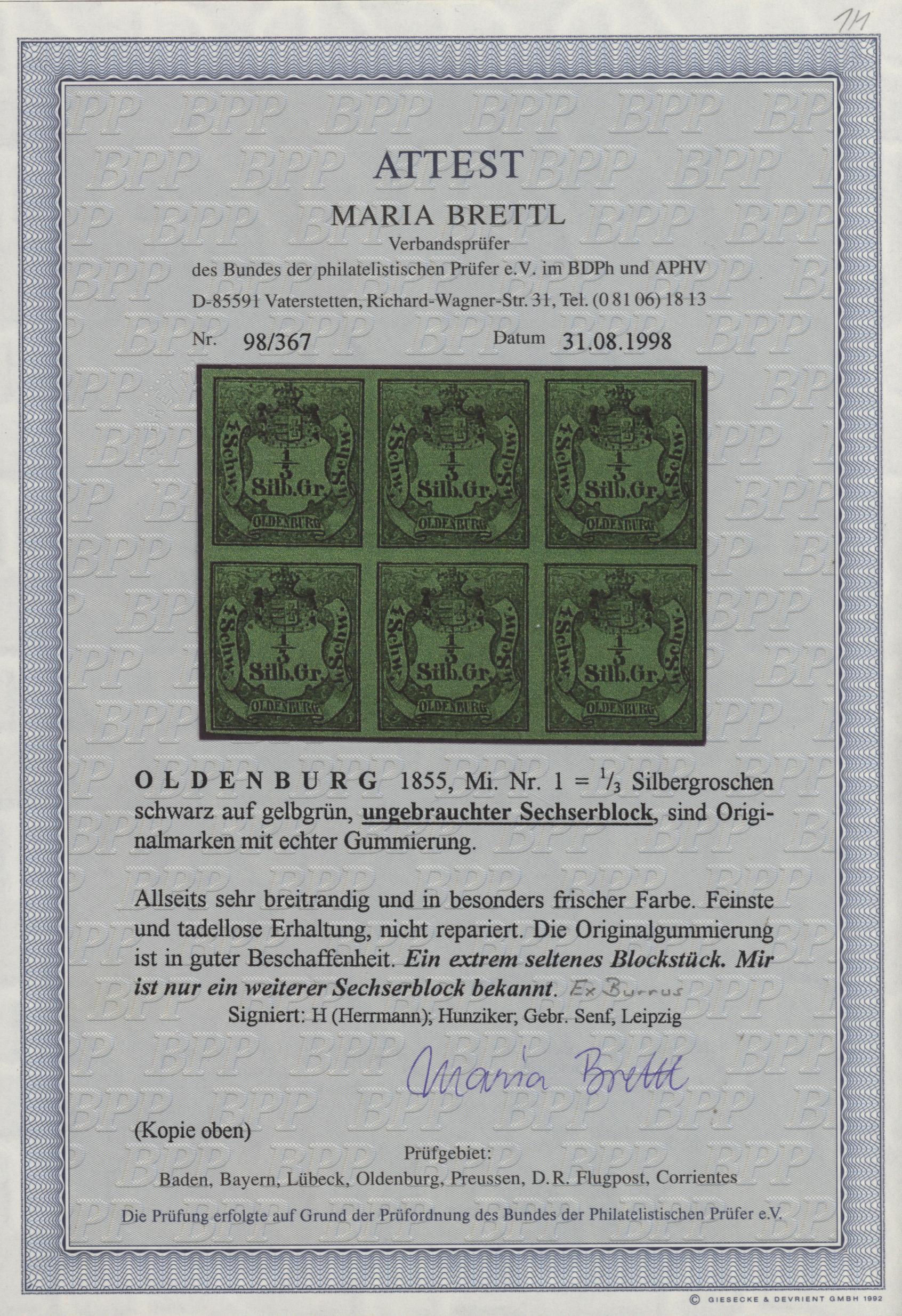 Lot 100 - Oldenburg - Marken und Briefe  -  Auktionshaus Christoph Gärtner GmbH & Co. KG Collection Peter Zgonc OLDENBURG