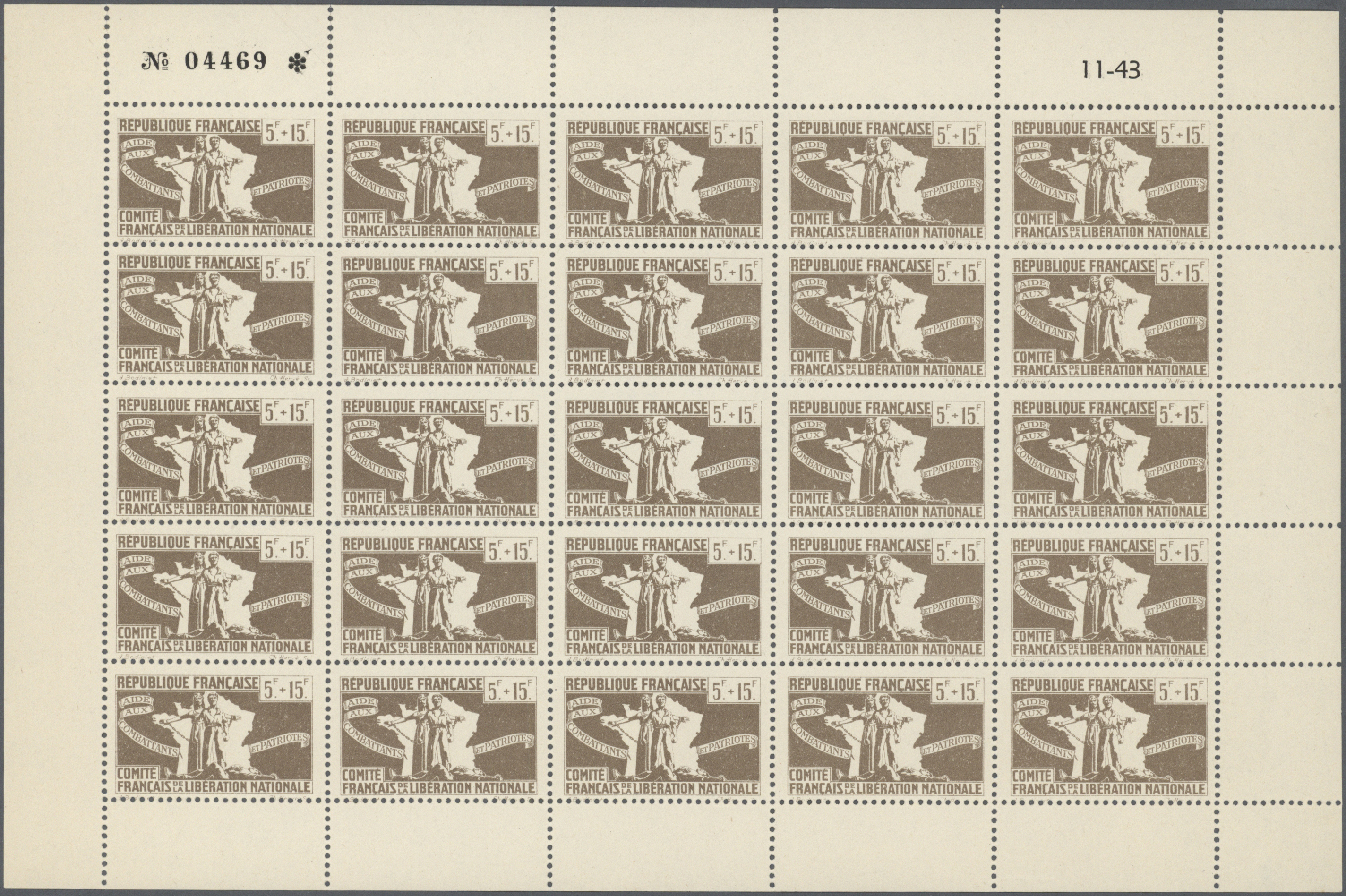 Lot 13167 - Algerien - Nationales Befreiungskomitee Algier  -  Auktionshaus Christoph Gärtner GmbH & Co. KG Single lots Philately Overseas & Europe. Auction #39 Day 4