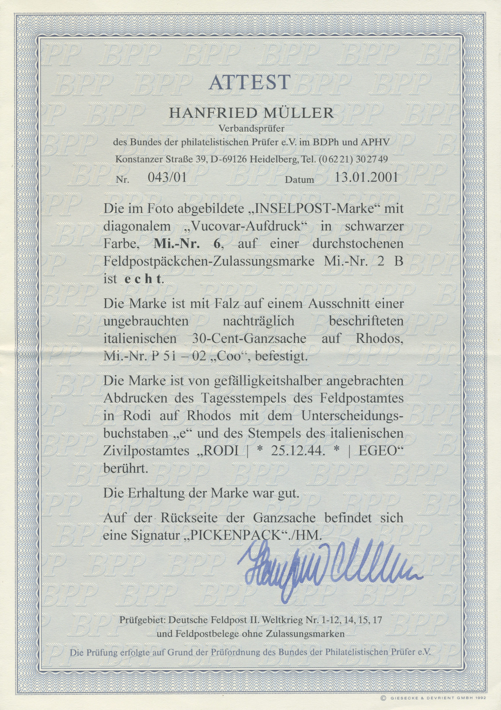 Stamp Auction - feldpostmarken - Germany Auction #42 Day 5