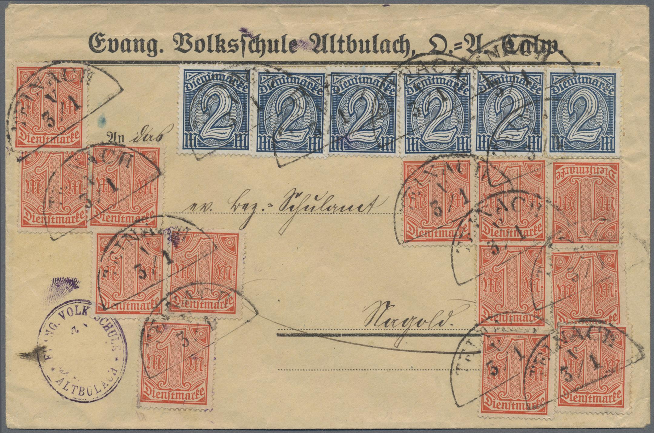 Lot 36358 - Württemberg - Nachverwendete Stempel  -  Auktionshaus Christoph Gärtner GmbH & Co. KG Sale #44 Collections Germany