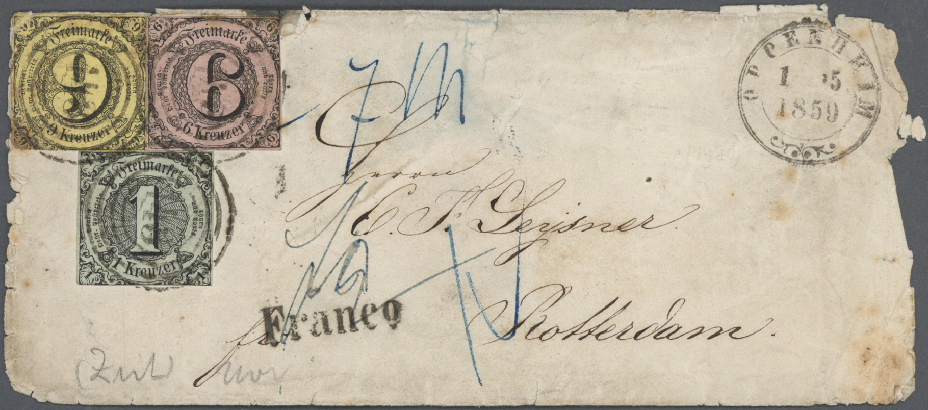 Lot 36482 - Thurn & Taxis - Marken und Briefe  -  Auktionshaus Christoph Gärtner GmbH & Co. KG Collections Germany,  Collections Supplement, Surprise boxes #39 Day 7