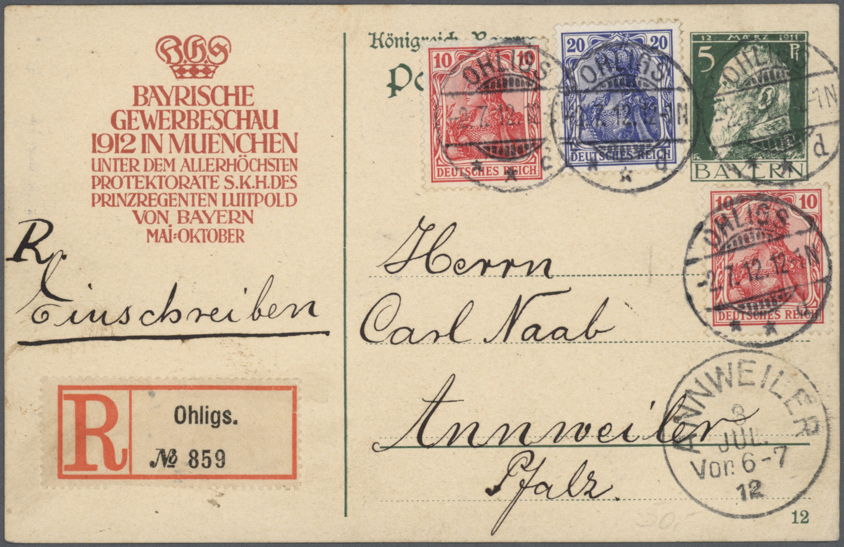 Lot 31224 - bayern - ganzsachen  -  Auktionshaus Christoph Gärtner GmbH & Co. KG Auction #40 Collections Germany, Wunderkartons