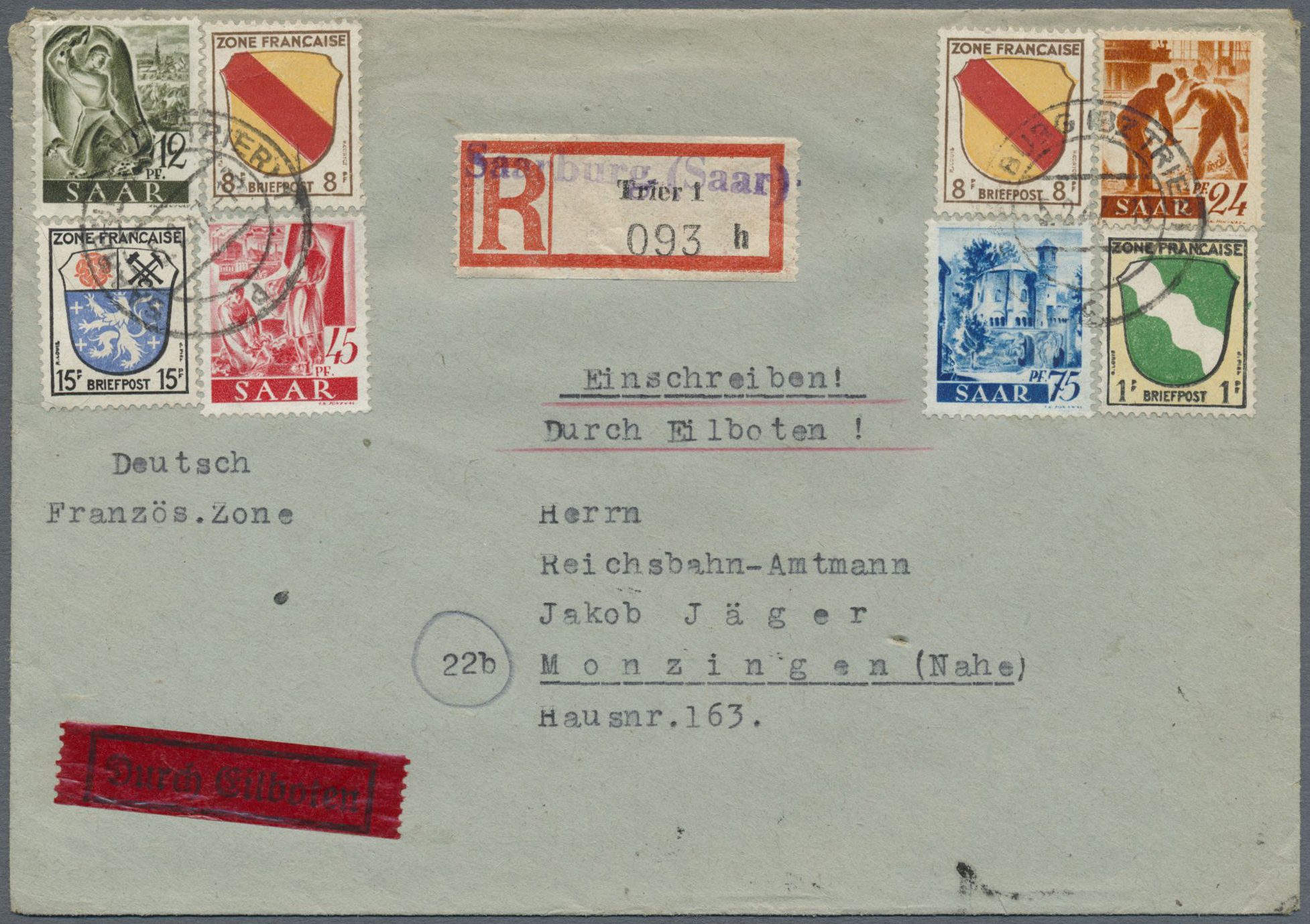 Lot 38284 - Saarland (1947/56)  -  Auktionshaus Christoph Gärtner GmbH & Co. KG Collections Germany,  Collections Supplement, Surprise boxes #39 Day 7