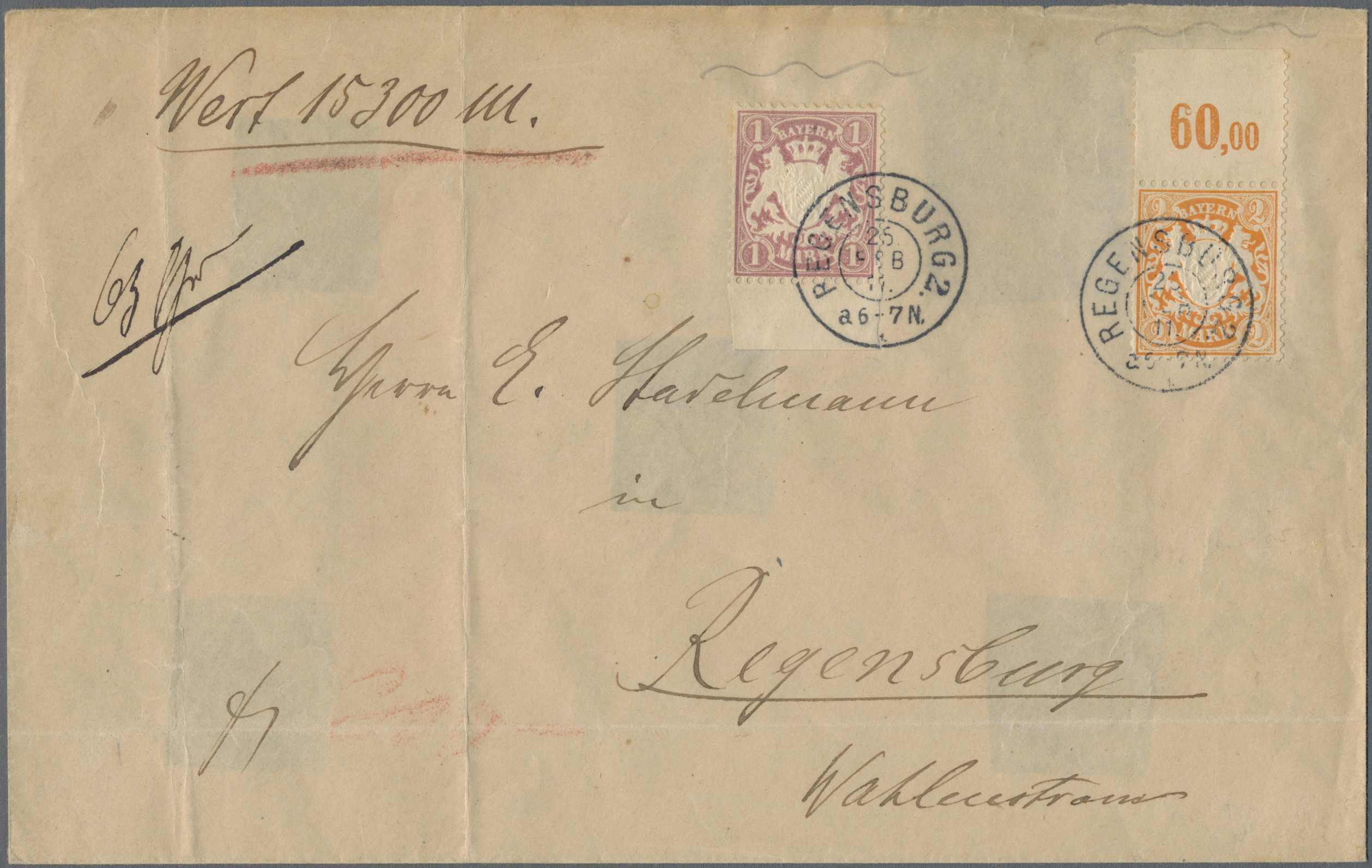 Lot 13593 - Bayern - Marken und Briefe  -  Auktionshaus Christoph Gärtner GmbH & Co. KG Sale #46 Single lots Germany - and picture post cards