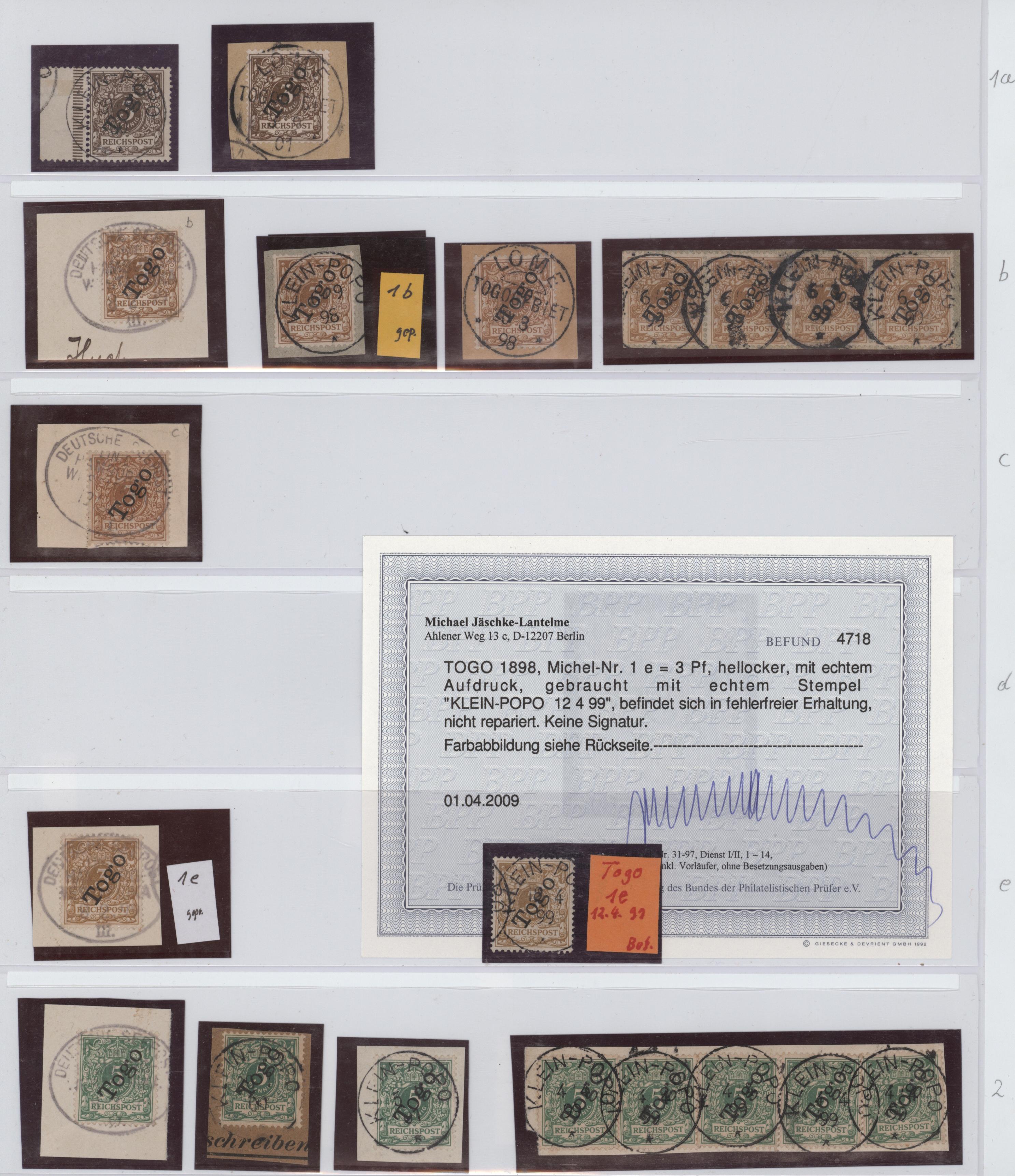 Lot 23610 - Deutsche Kolonien - Togo  -  Auktionshaus Christoph Gärtner GmbH & Co. KG 50th Auction Anniversary Auction - Day 7