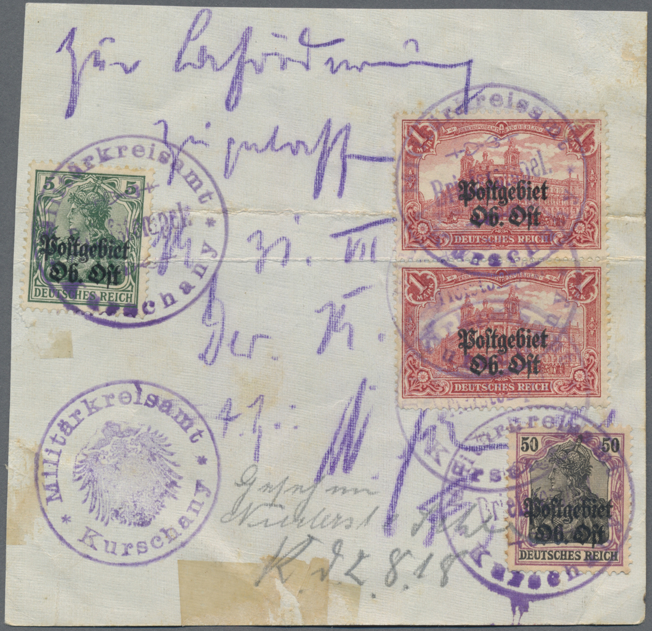 Lot 11523 - Deutsche Besetzung I. WK: Postgebiet Ober. Ost  -  Auktionshaus Christoph Gärtner GmbH & Co. KG Sale #48 The Single Lots Philatelie