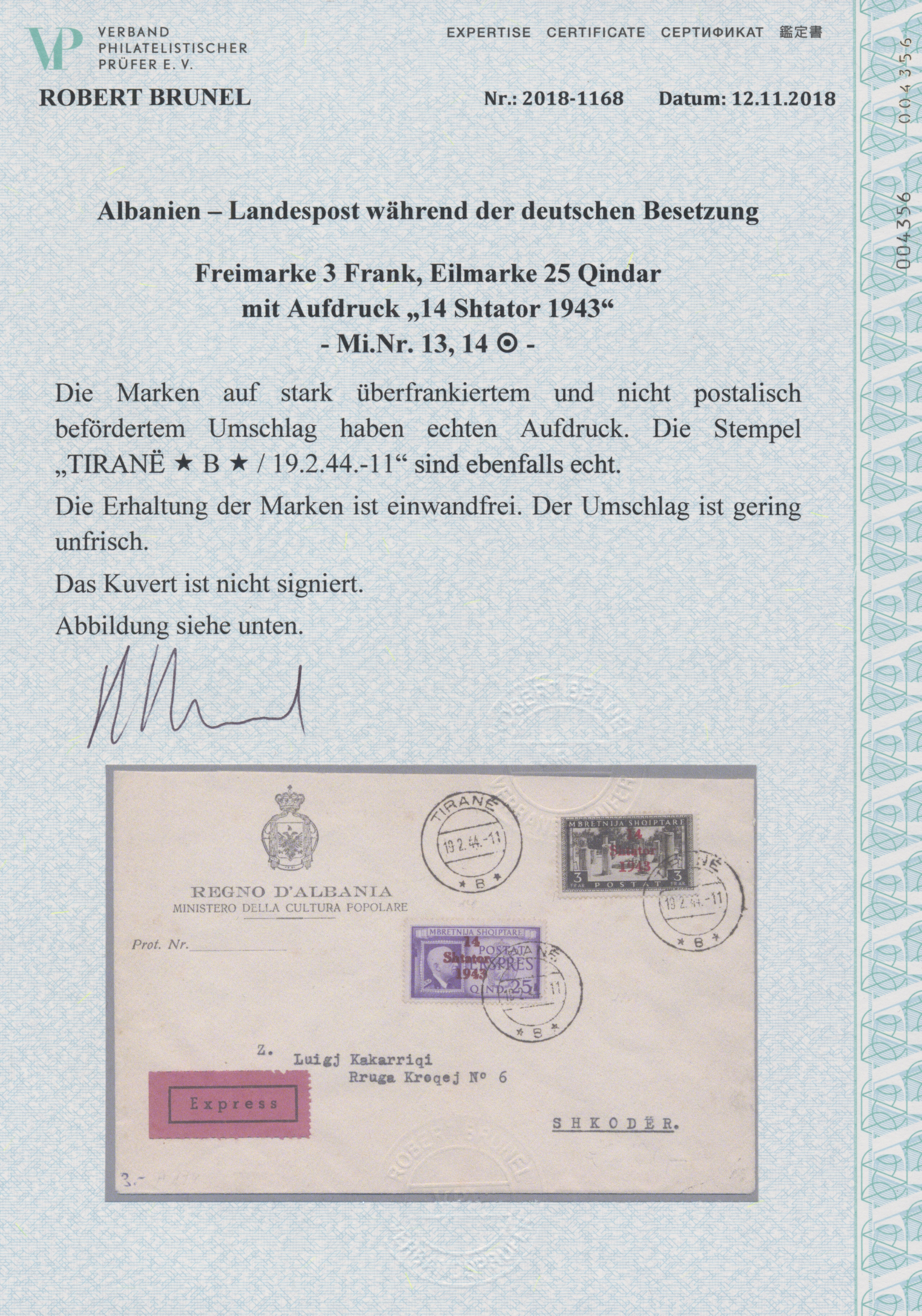 Lot 23403 - Dt. Besetzung II WK - Albanien  -  Auktionshaus Christoph Gärtner GmbH & Co. KG Sale #44 Germany, Picture Post cards