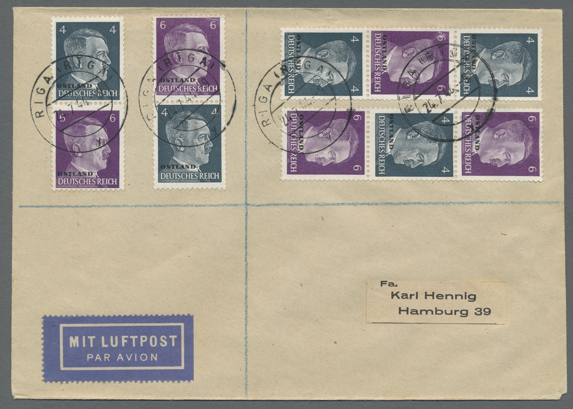 Lot 37132 - Dt. Besetzung II WK - Ostland  -  Auktionshaus Christoph Gärtner GmbH & Co. KG Sale #44 Collections Germany