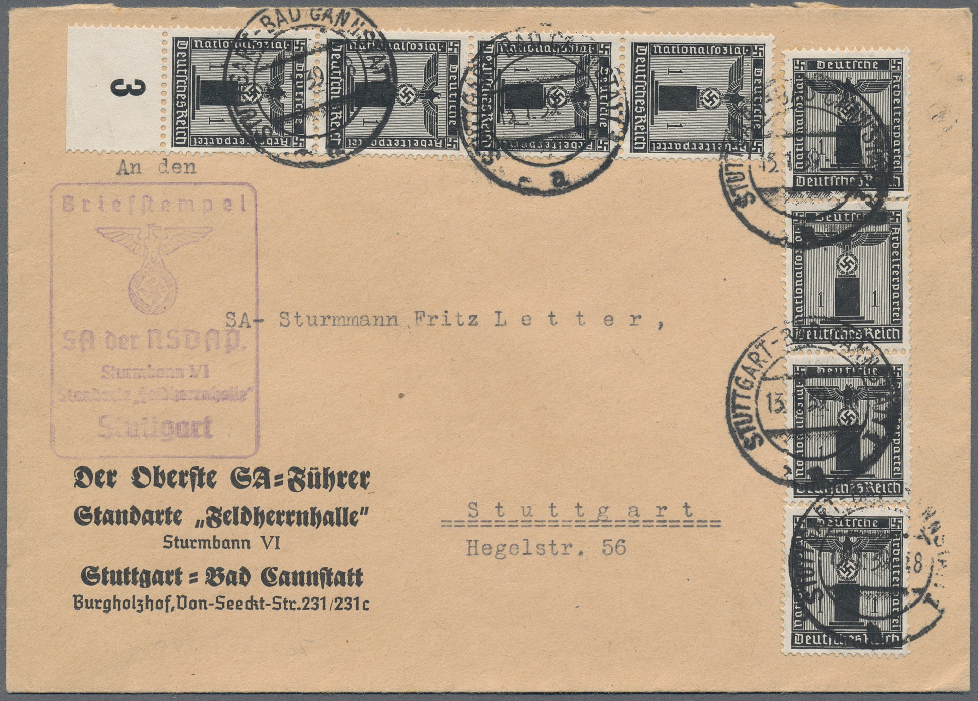 Lot 37055 - Deutsches Reich - Dienstmarken  -  Auktionshaus Christoph Gärtner GmbH & Co. KG Collections Germany,  Collections Supplement, Surprise boxes #39 Day 7