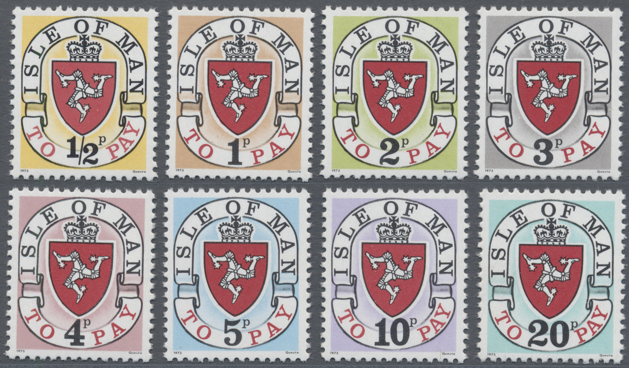 Lot 17125 - Großbritannien - Isle of Man - Portomarken  -  Auktionshaus Christoph Gärtner GmbH & Co. KG Sale #48 collections Overseas  Airmail / Ship mail & Thematics