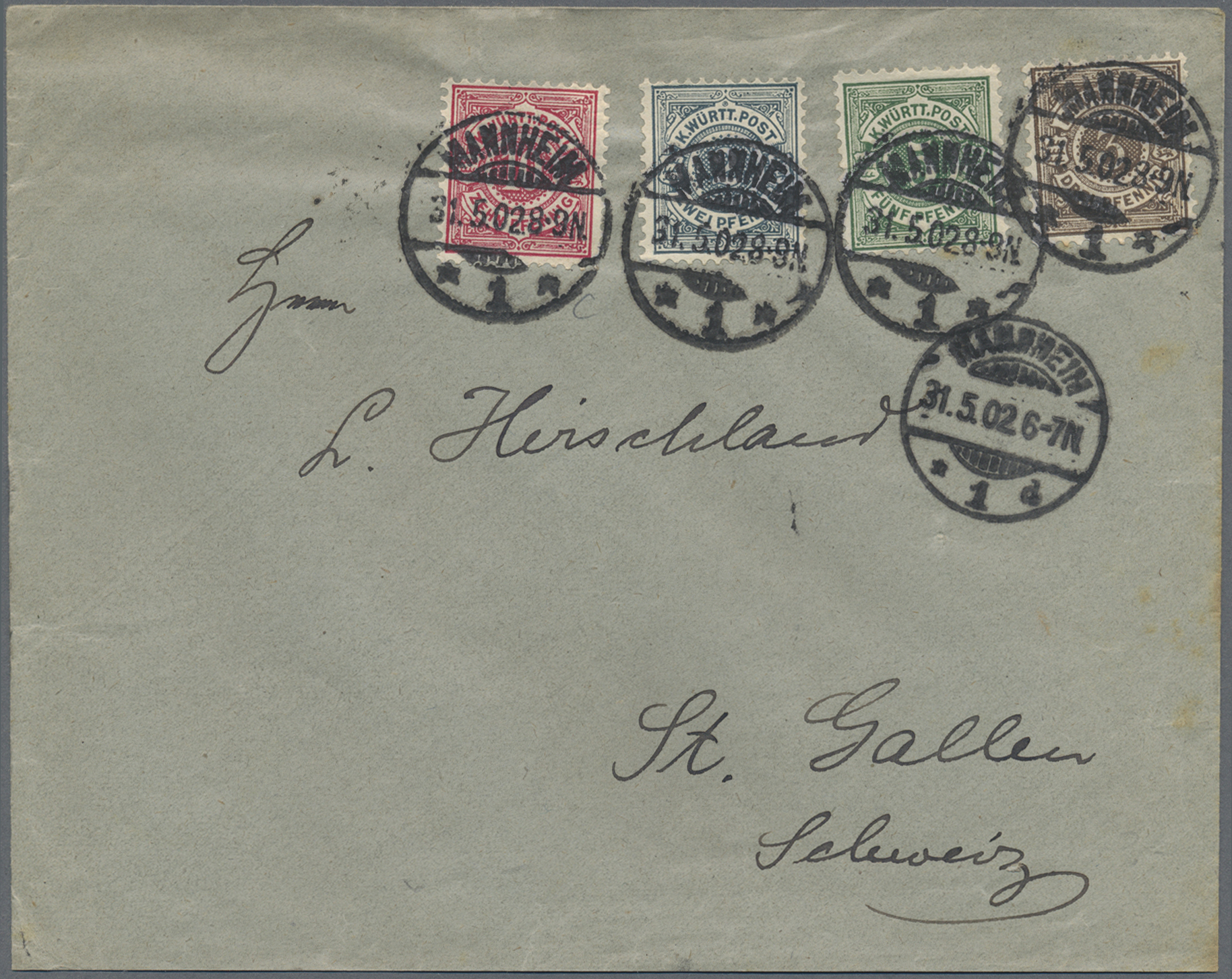 Lot 36341 - Württemberg - Marken und Briefe  -  Auktionshaus Christoph Gärtner GmbH & Co. KG Sale #44 Collections Germany
