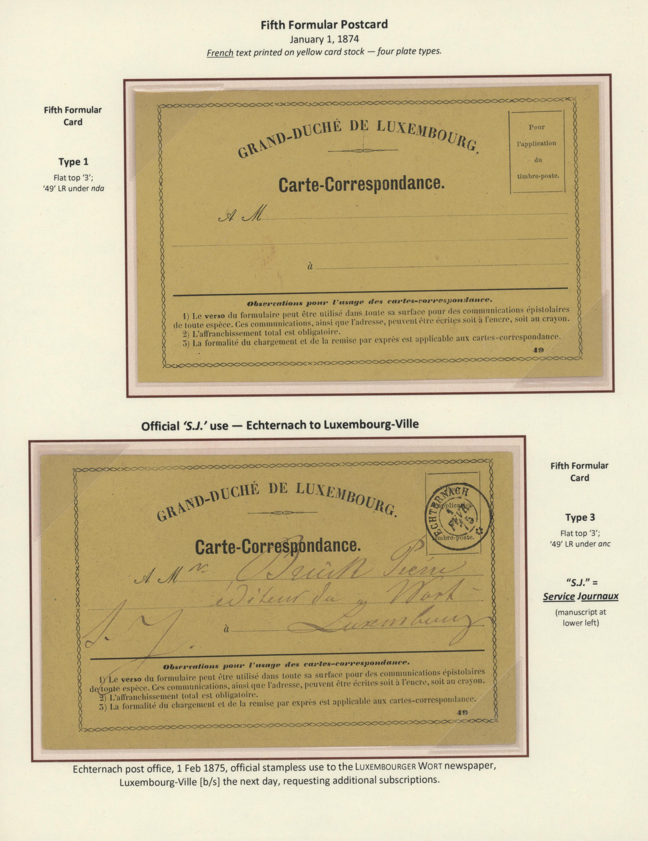 Stamp Auction Luxemburg Ganzsachen Auction #41 Special