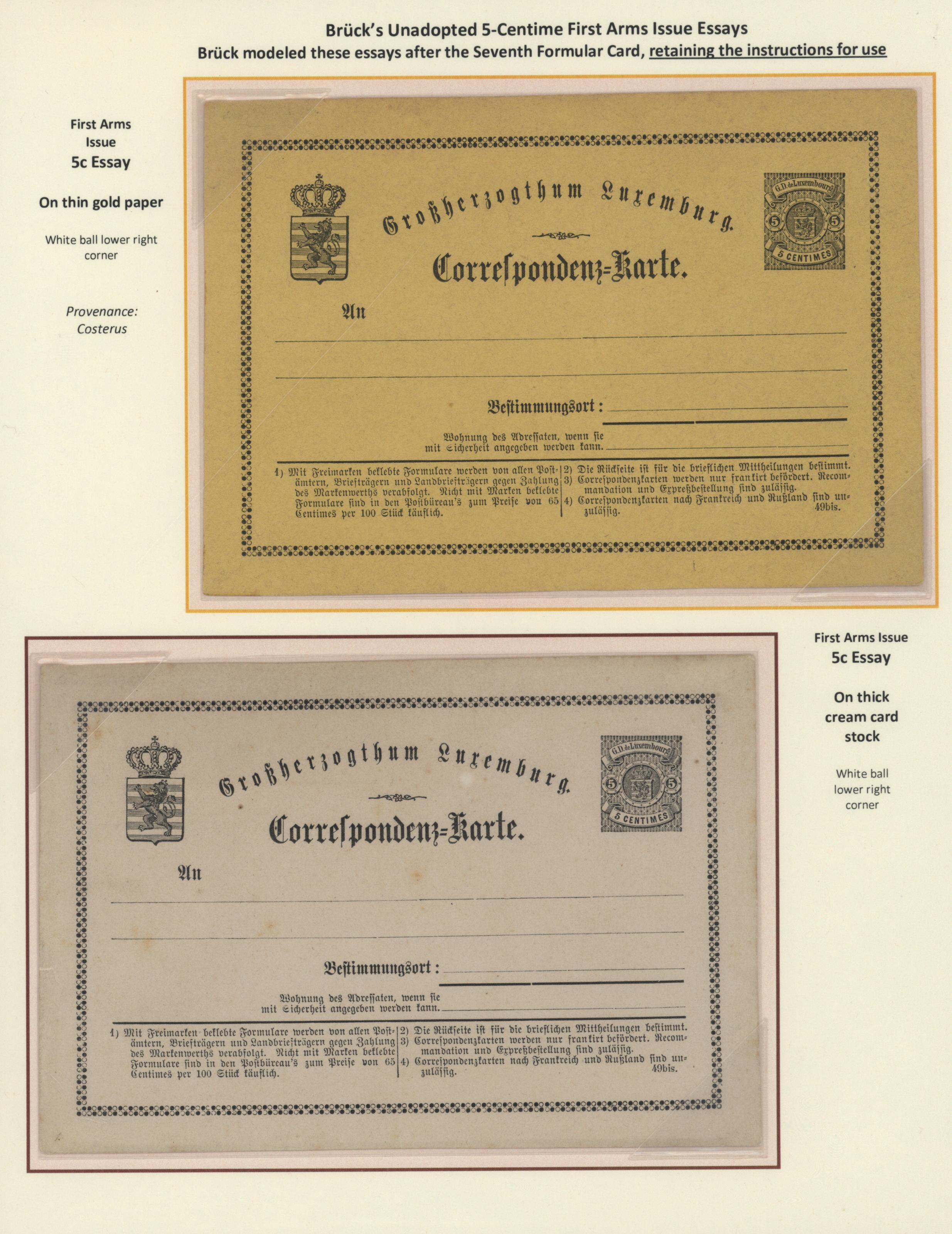 Lot 1538 - Luxemburg - Ganzsachen - Auktionshaus Christoph Gärtner GmbH &  Co. KG Auction