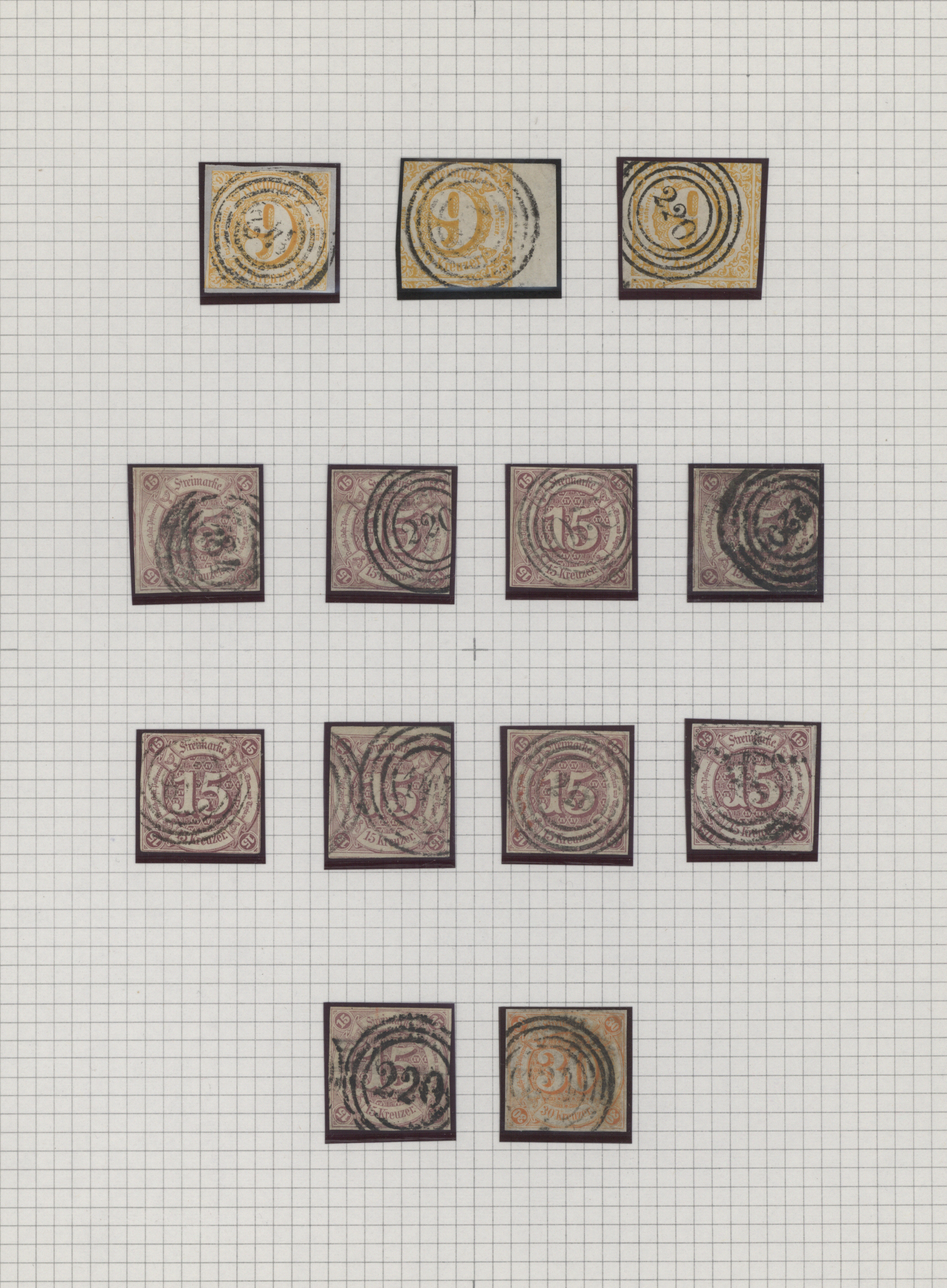 Lot 36299 - Thurn & Taxis - Marken und Briefe  -  Auktionshaus Christoph Gärtner GmbH & Co. KG Sale #44 Collections Germany
