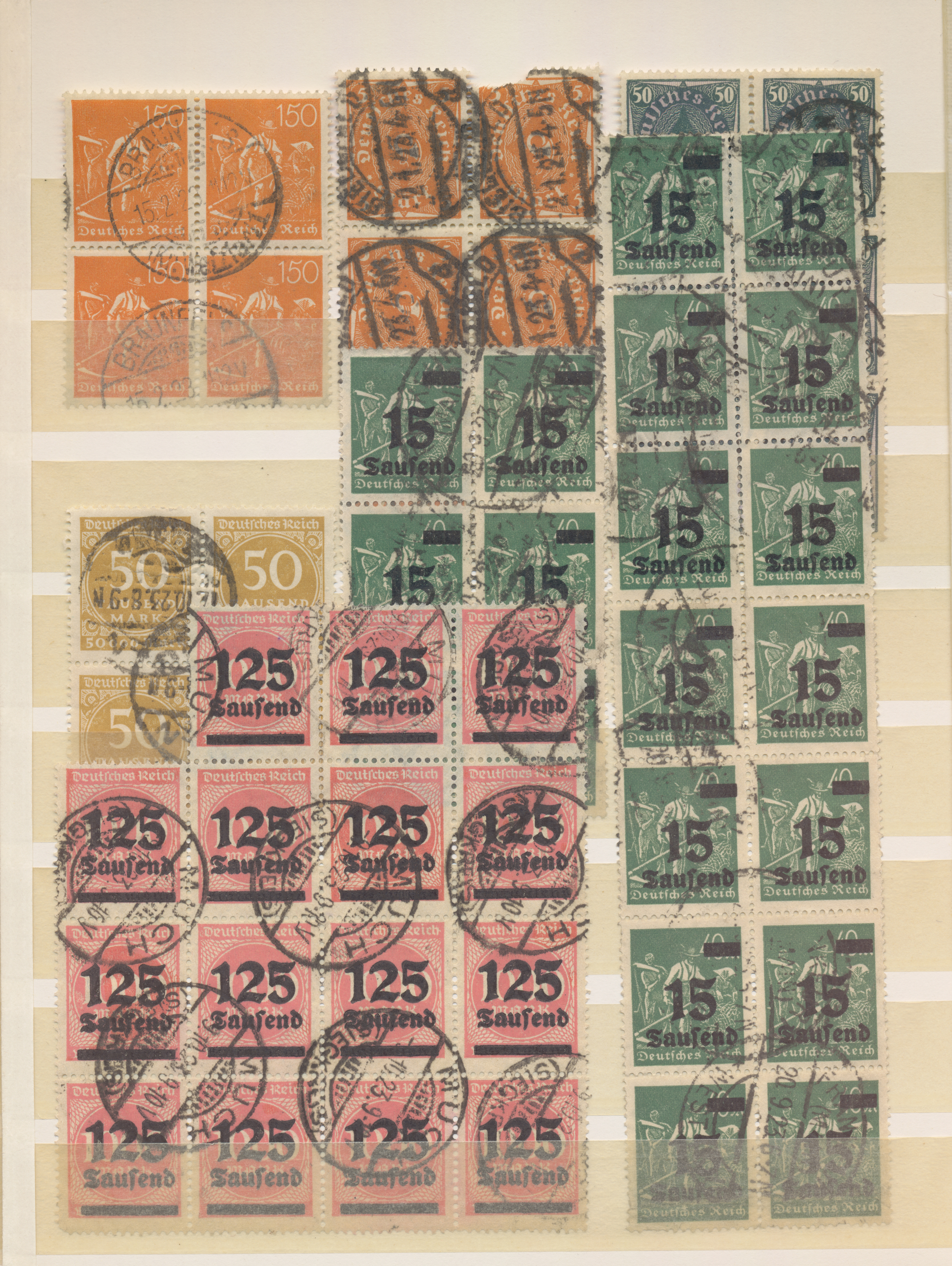 Lot 36607 - Deutsches Reich - Inflation  -  Auktionshaus Christoph Gärtner GmbH & Co. KG Sale #44 Collections Germany