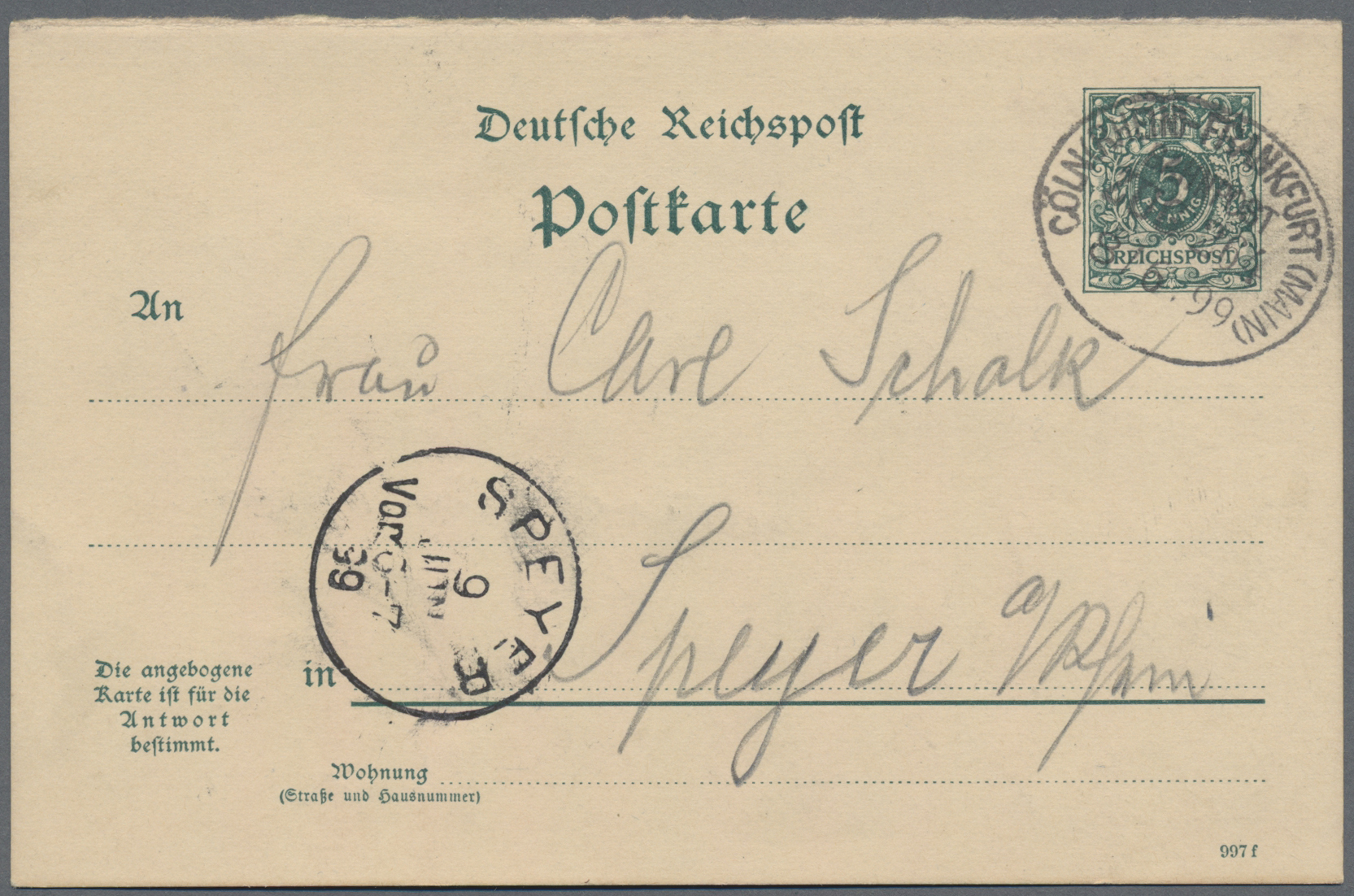 Lot 36832 - Deutsches Reich - Ganzsachen  -  Auktionshaus Christoph Gärtner GmbH & Co. KG Sale #44 Collections Germany