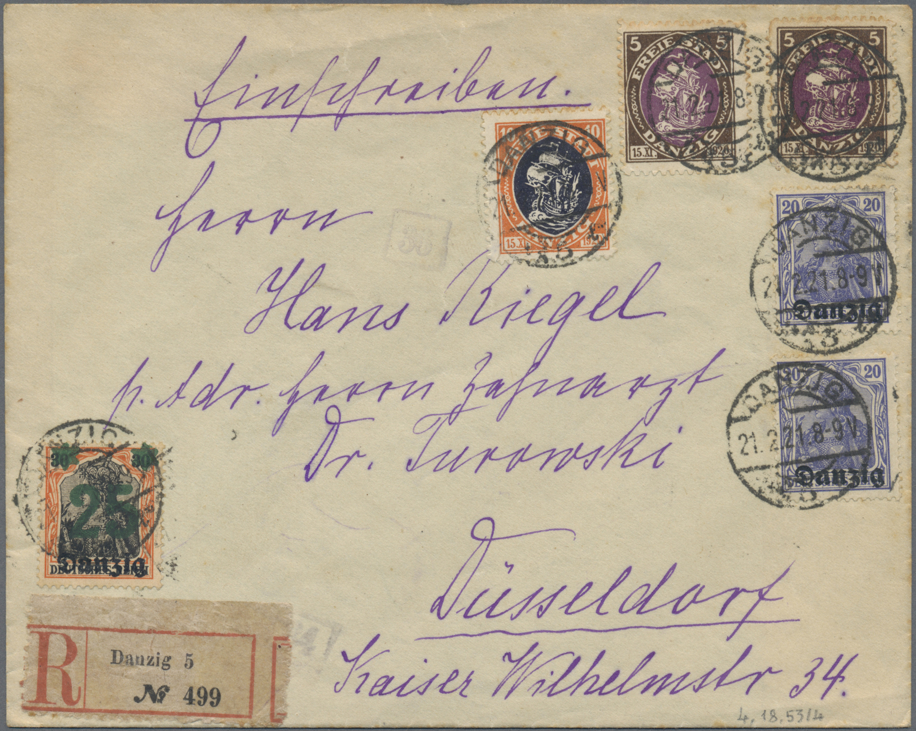 Lot 37050 - danzig  -  Auktionshaus Christoph Gärtner GmbH & Co. KG Sale #44 Collections Germany