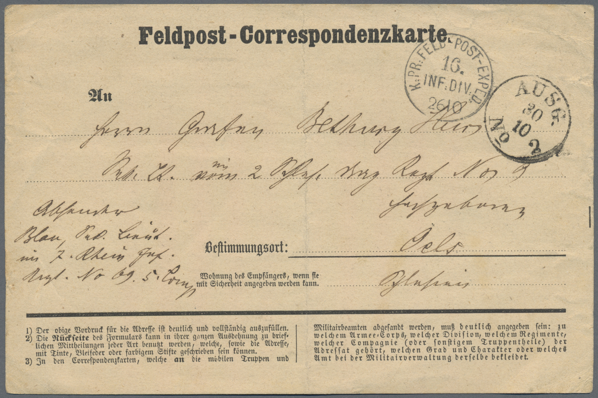 Lot 36995 - feldpost 1. weltkrieg  -  Auktionshaus Christoph Gärtner GmbH & Co. KG Sale #44 Collections Germany