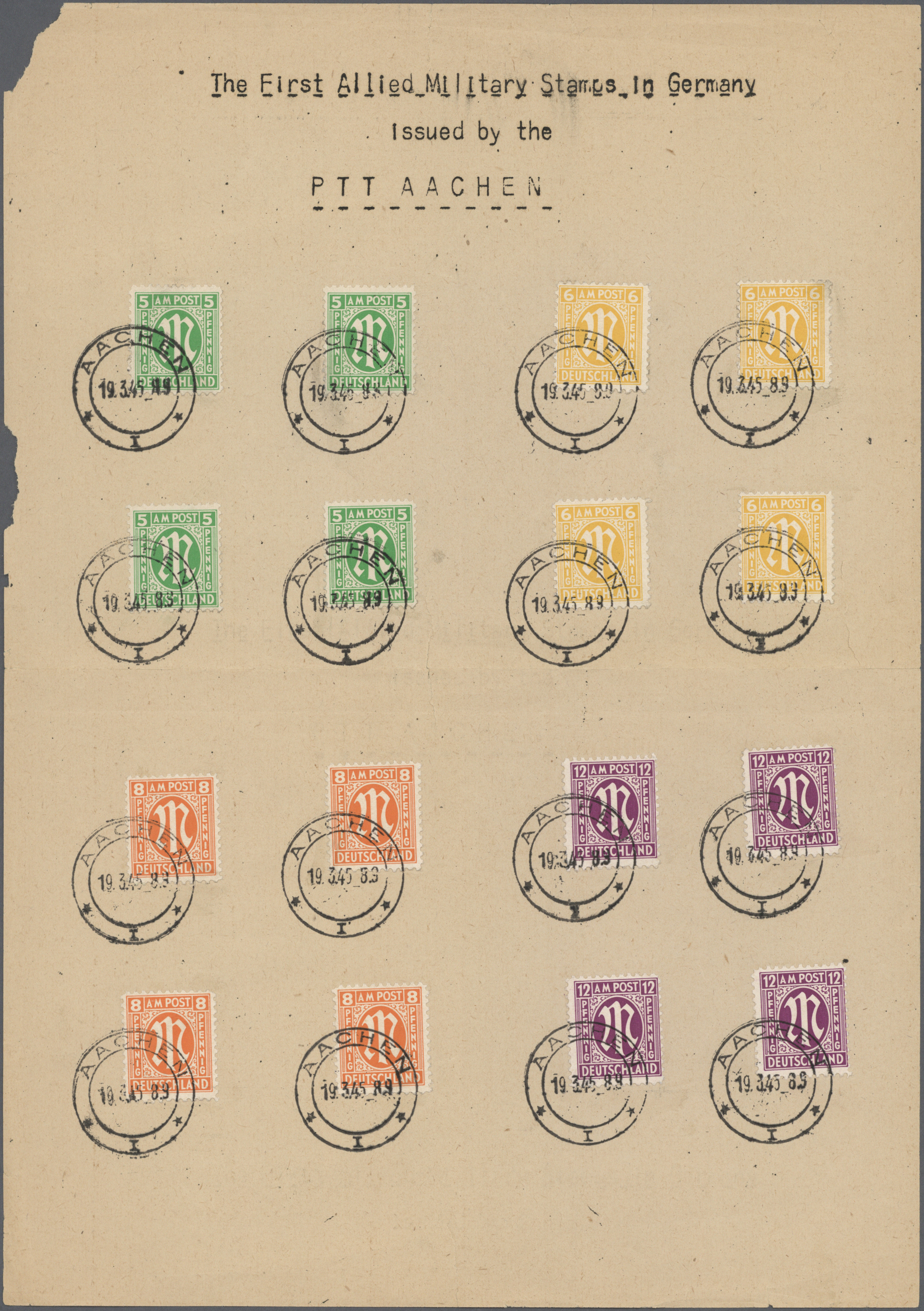 Lot 25073 - bizone  -  Auktionshaus Christoph Gärtner GmbH & Co. KG Single lots Germany + Picture Postcards. Auction #39 Day 5