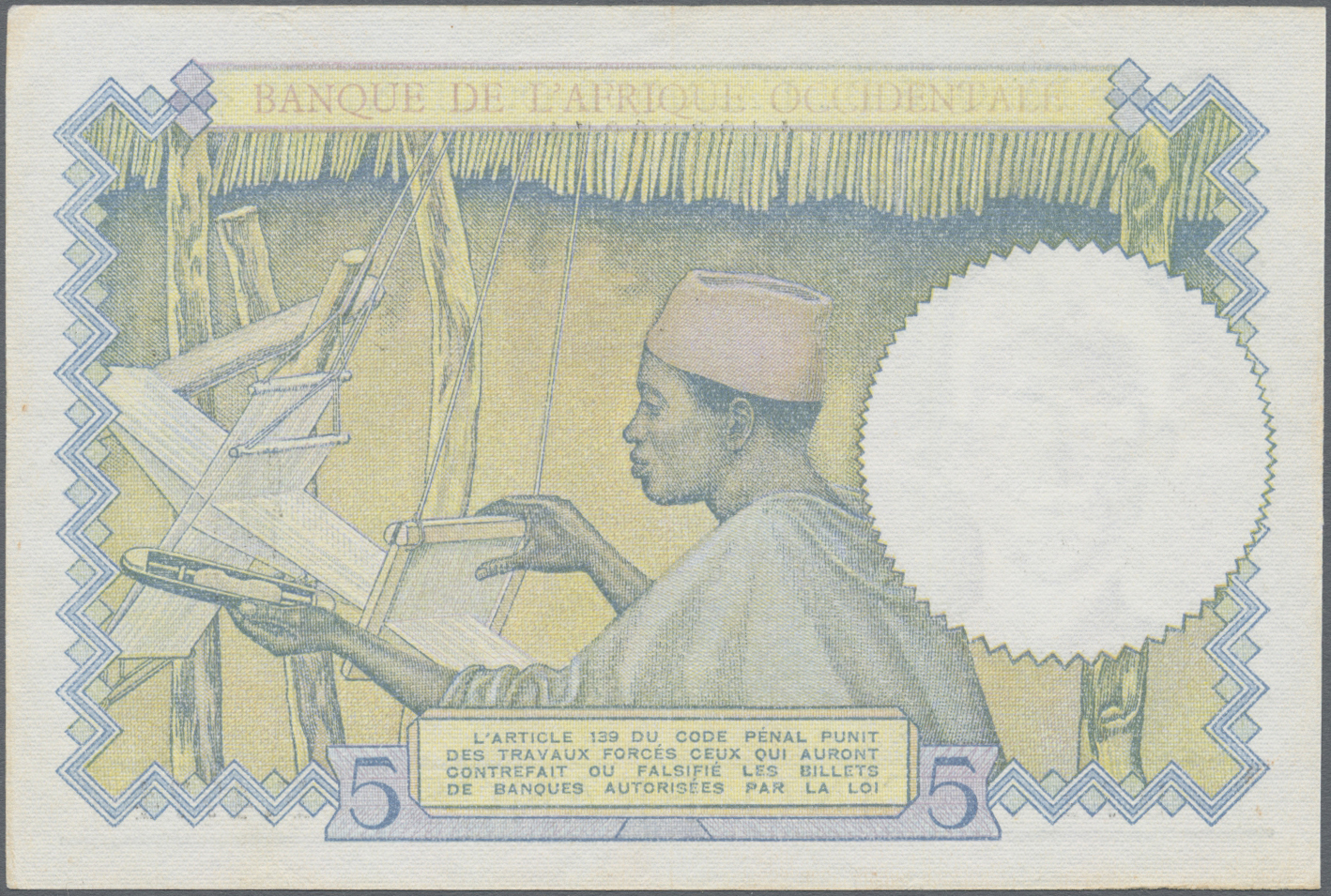 Lot 00353 - French West Africa / Französisch Westafrika | Banknoten  -  Auktionshaus Christoph Gärtner GmbH & Co. KG Sale #48 The Banknotes