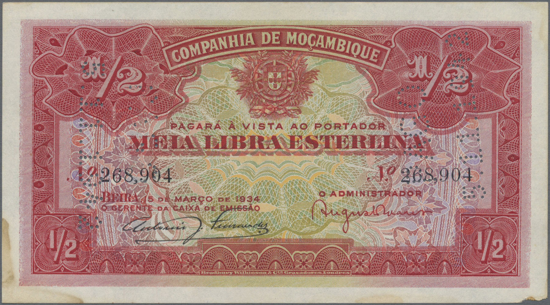 Lot 9011 - mozambique banknoten -  Auktionshaus Christoph Gärtner GmbH & Co. KG Sale #47 Banknotes Worldwide & Germany, Numismatics