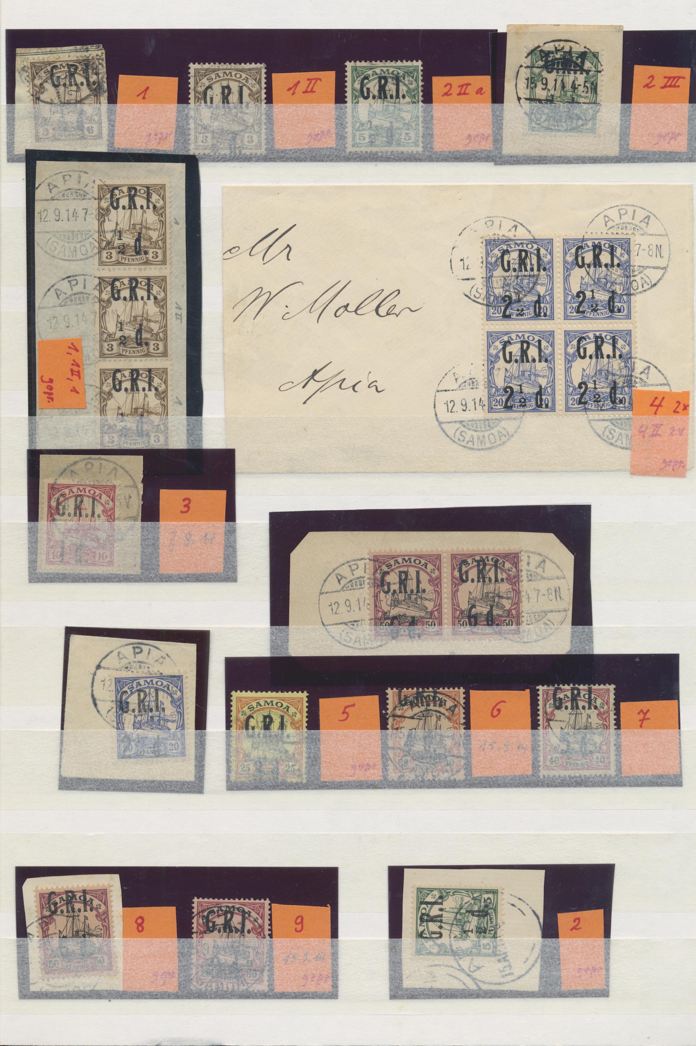 Lot 23607 - Deutsche Kolonien - Samoa - Britische Besetzung  -  Auktionshaus Christoph Gärtner GmbH & Co. KG 50th Auction Anniversary Auction - Day 7