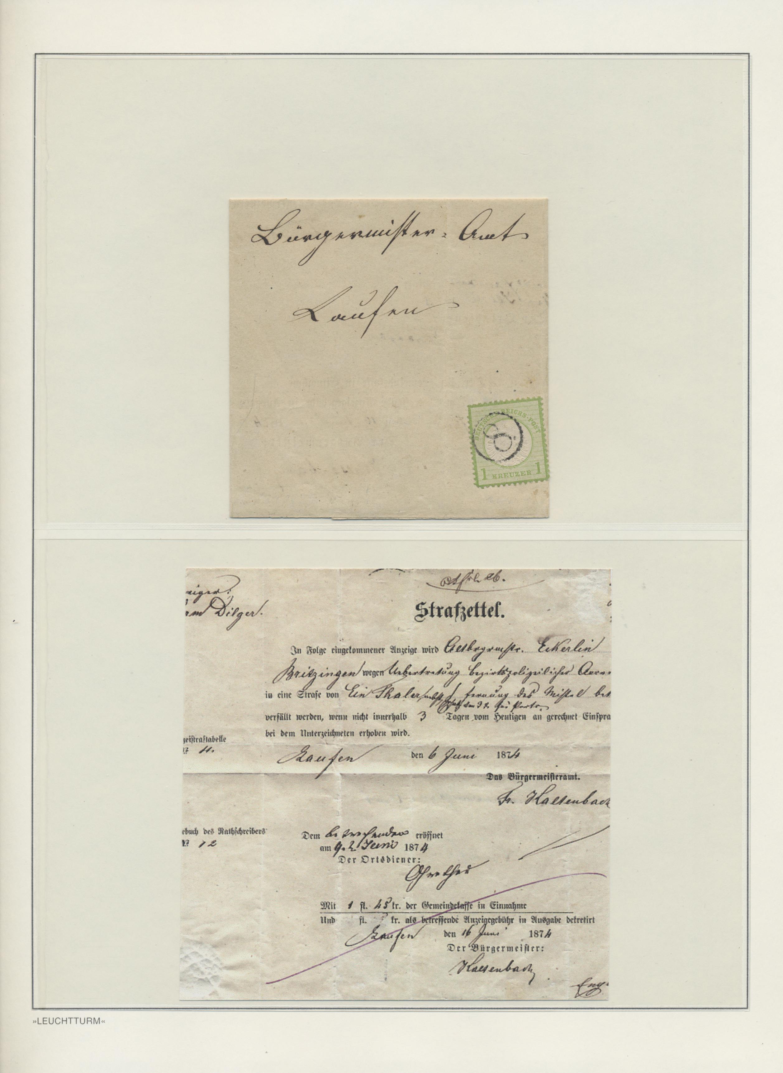 Lot 36157 - Baden - Nachverwendete Stempel  -  Auktionshaus Christoph Gärtner GmbH & Co. KG Sale #44 Collections Germany