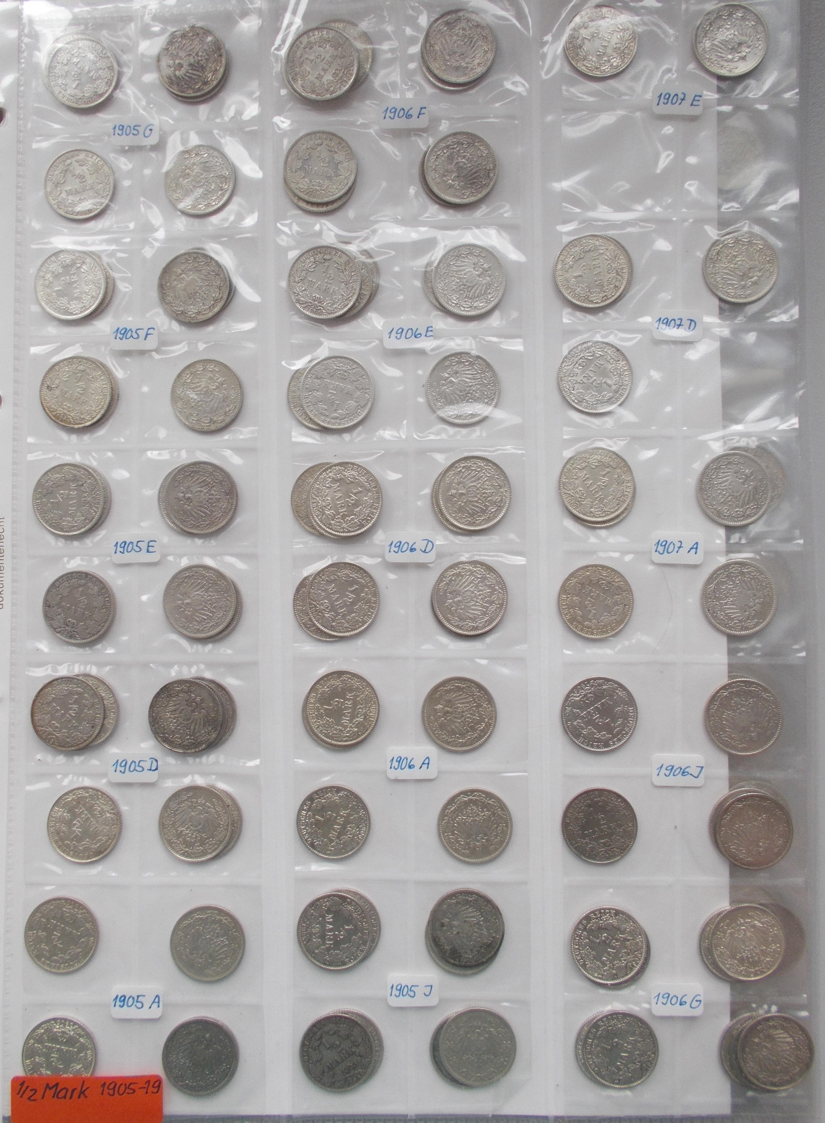 Lot 02777 - Umlaufmünzen 1 Pf. - 1 Mark   Deutsches Kaiserreich  -  Auktionshaus Christoph Gärtner GmbH & Co. KG Sale #48 The Coins & The Picture Post Cards