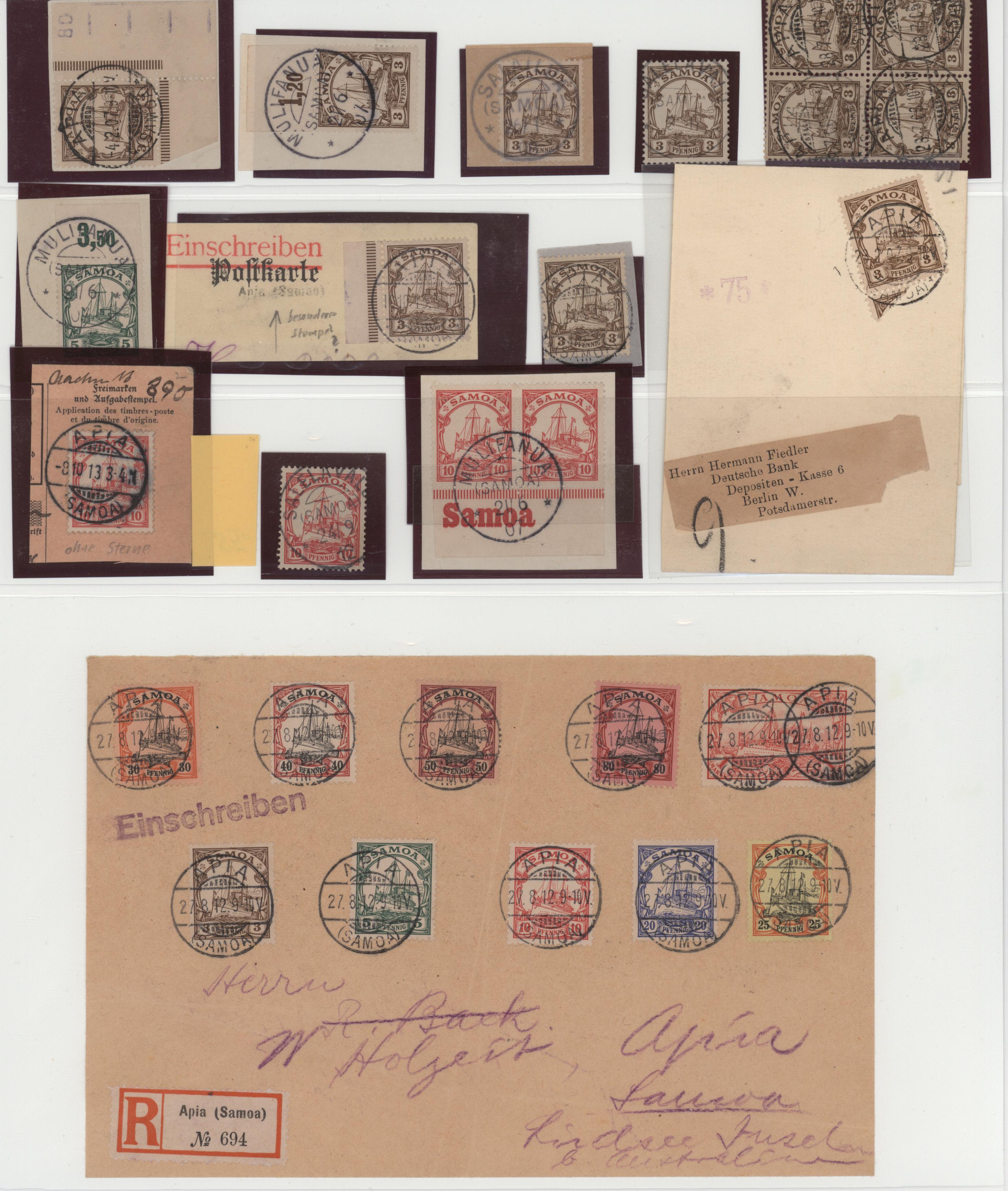 Lot 23605 - Deutsche Kolonien - Samoa  -  Auktionshaus Christoph Gärtner GmbH & Co. KG 50th Auction Anniversary Auction - Day 7