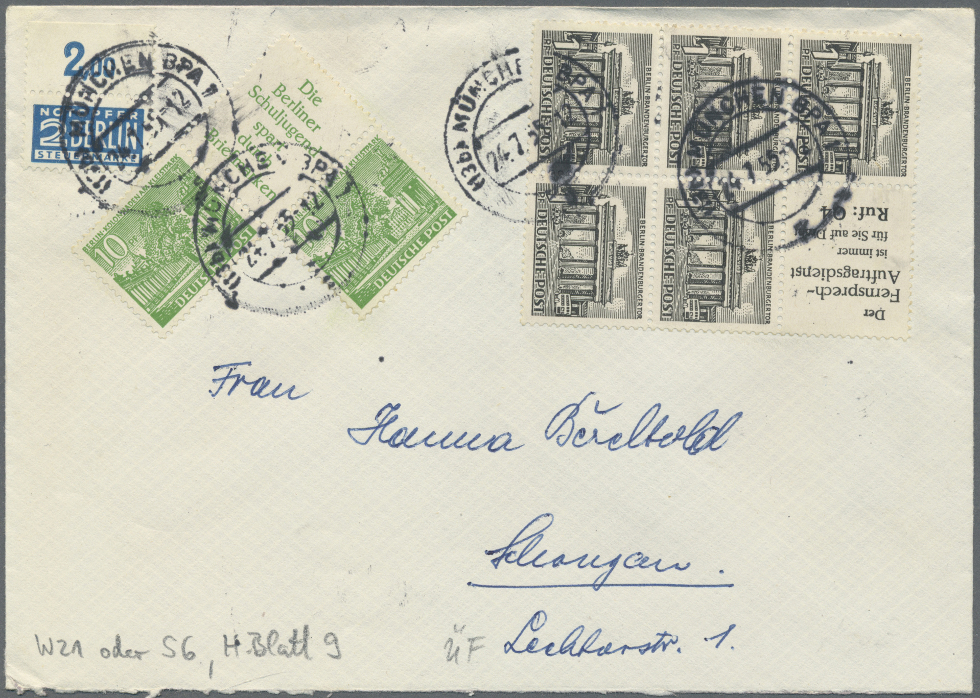 Lot 37481 - berlin - zusammendrucke  -  Auktionshaus Christoph Gärtner GmbH & Co. KG Sale #44 Collections Germany