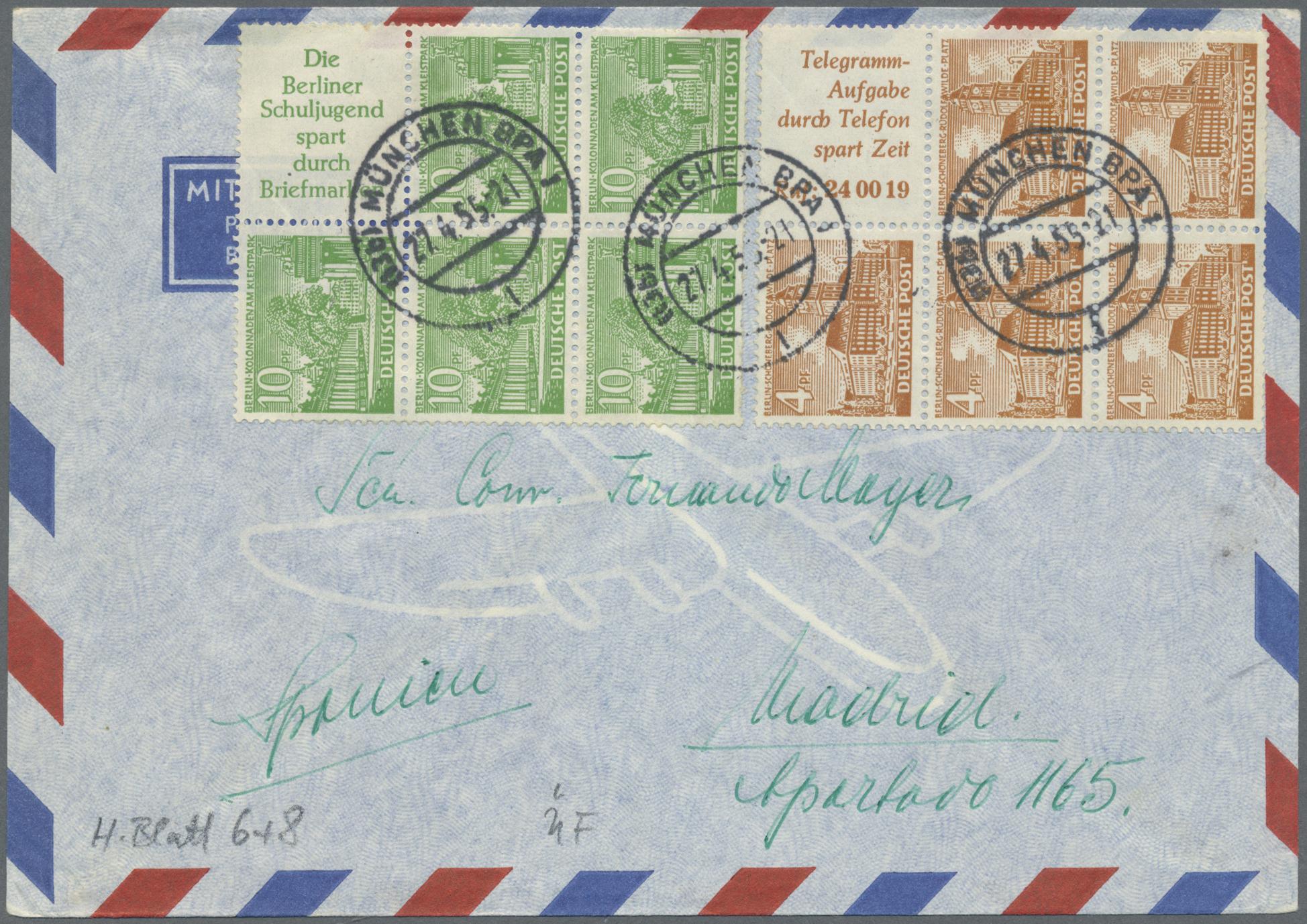 Lot 32538 - berlin - zusammendrucke  -  Auktionshaus Christoph Gärtner GmbH & Co. KG Auction #40 Collections Germany, Wunderkartons
