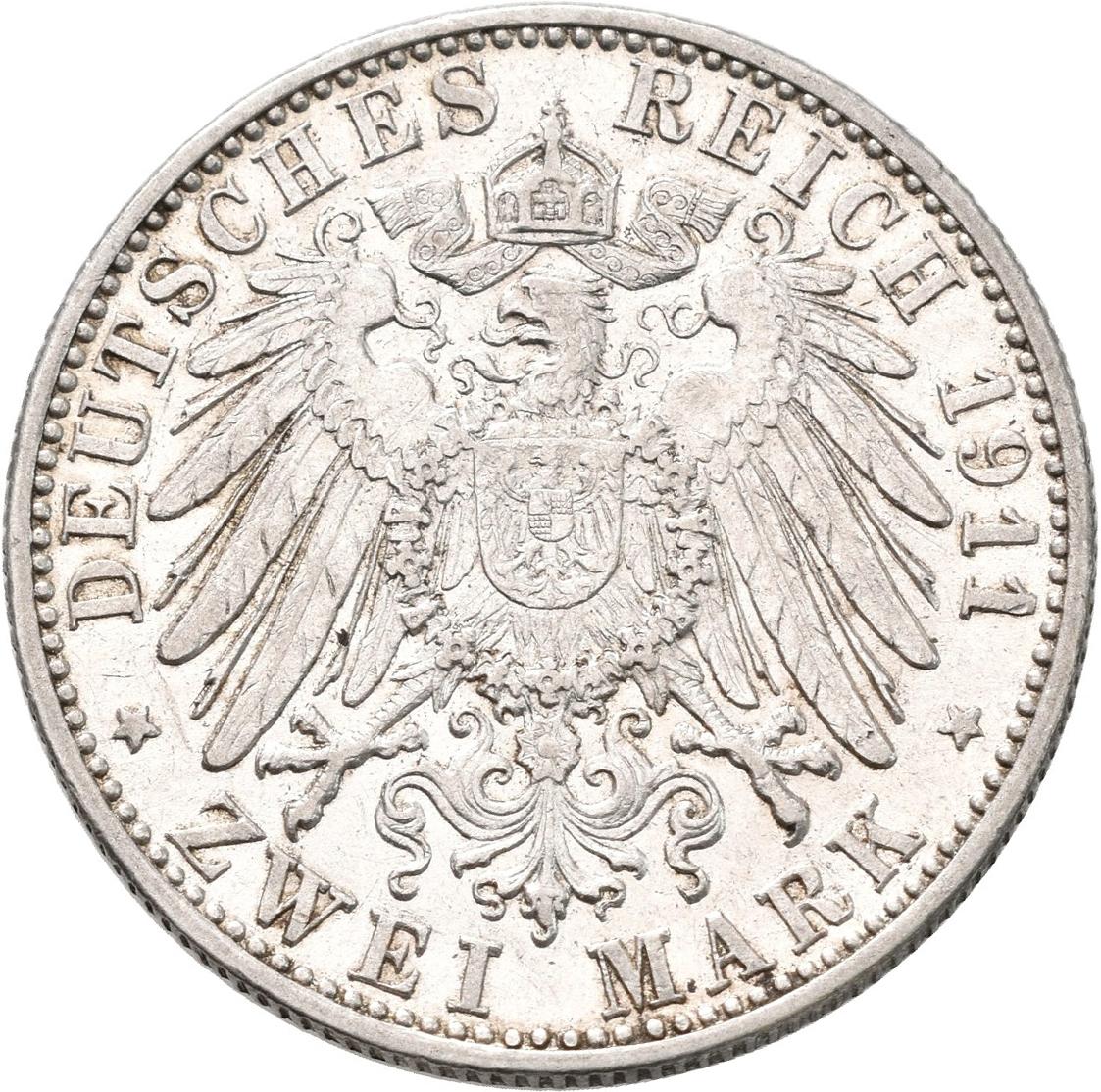 Lot 02224 - Baden | Umlaufmünzen 2 Mark bis 5 Mark - Deutsches Kaiserreich  -  Auktionshaus Christoph Gärtner GmbH & Co. KG Sale #48 The Coins & The Picture Post Cards