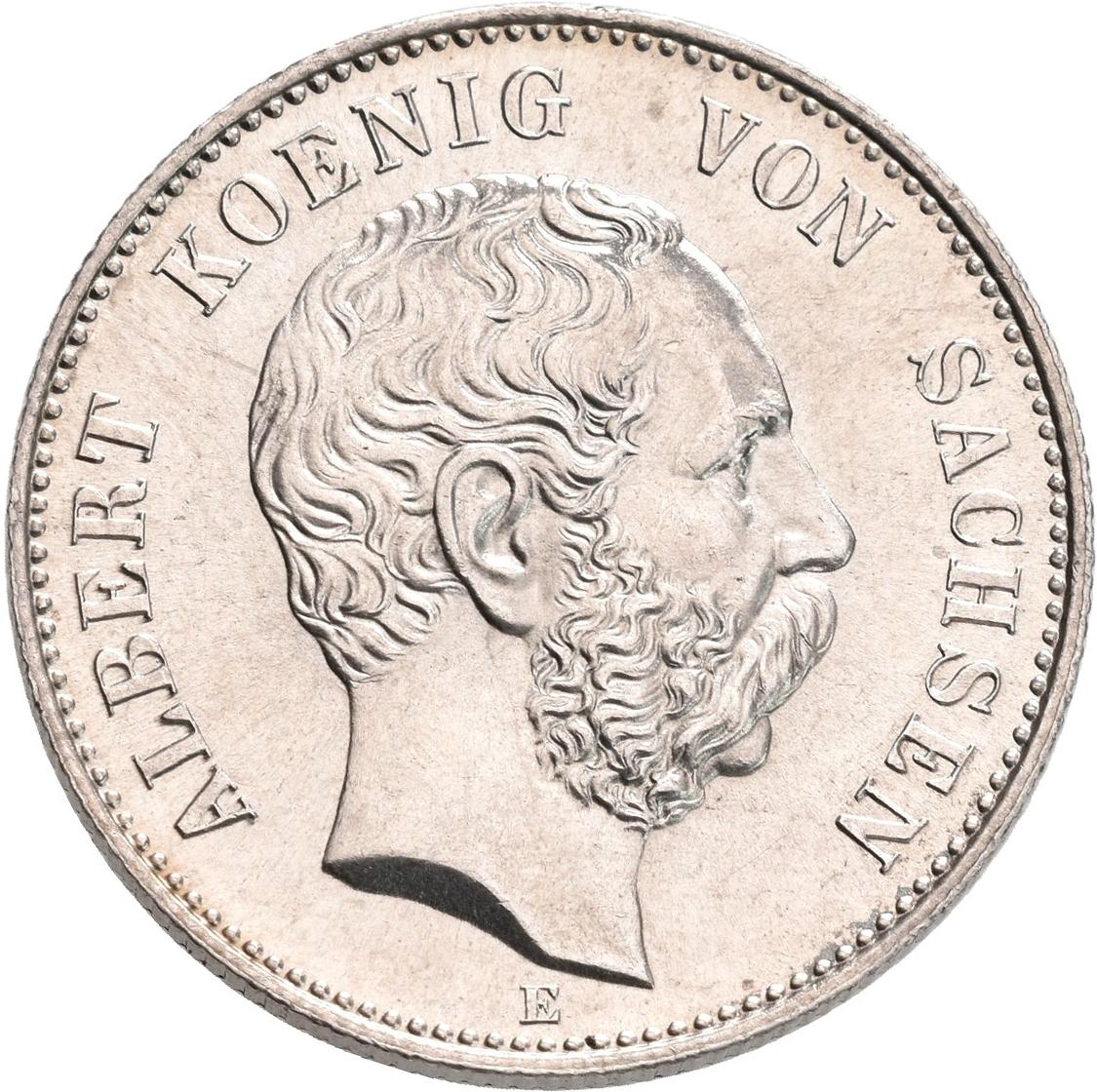 Lot 02238 - Sachsen | Umlaufmünzen 2 Mark bis 5 Mark - Deutsches Kaiserreich  -  Auktionshaus Christoph Gärtner GmbH & Co. KG Sale #48 The Coins & The Picture Post Cards