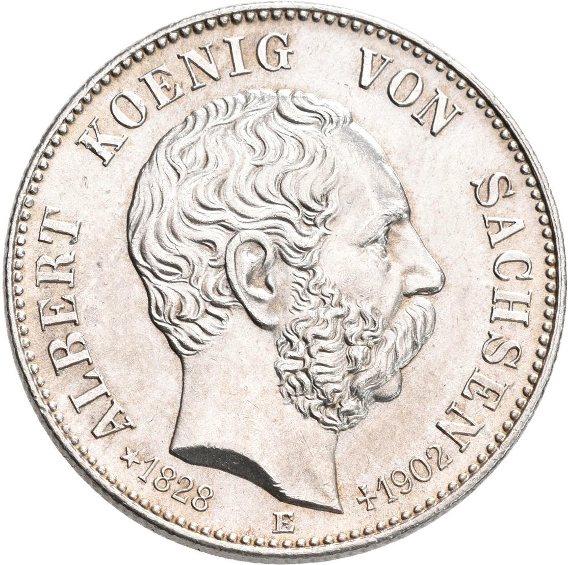 Lot 02239 - Sachsen | Umlaufmünzen 2 Mark bis 5 Mark - Deutsches Kaiserreich  -  Auktionshaus Christoph Gärtner GmbH & Co. KG Sale #48 The Coins & The Picture Post Cards