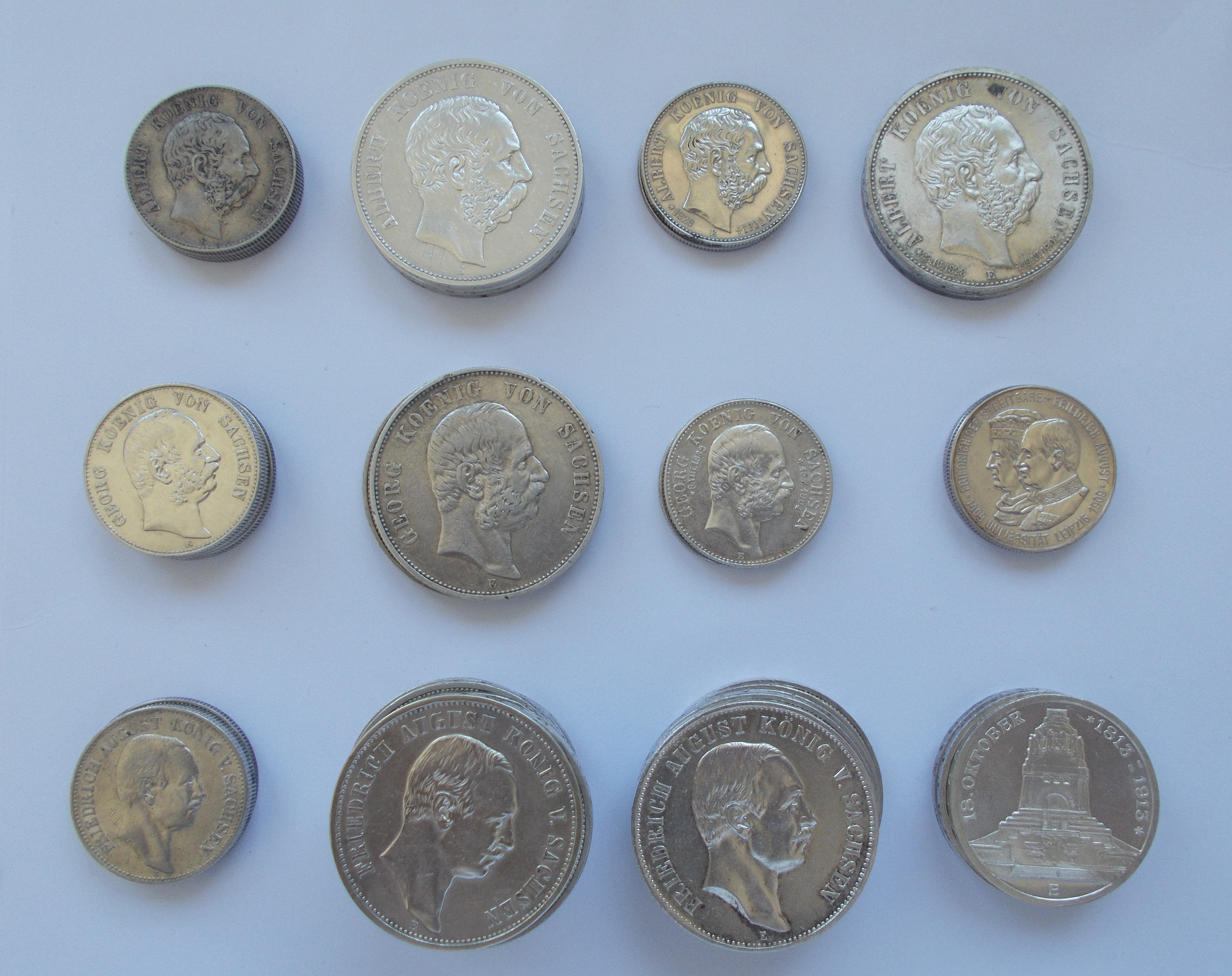 Lot 02784 - Sachsen | Umlaufmünzen 2 Mark bis 5 Mark - Deutsches Kaiserreich  -  Auktionshaus Christoph Gärtner GmbH & Co. KG Sale #48 The Coins & The Picture Post Cards
