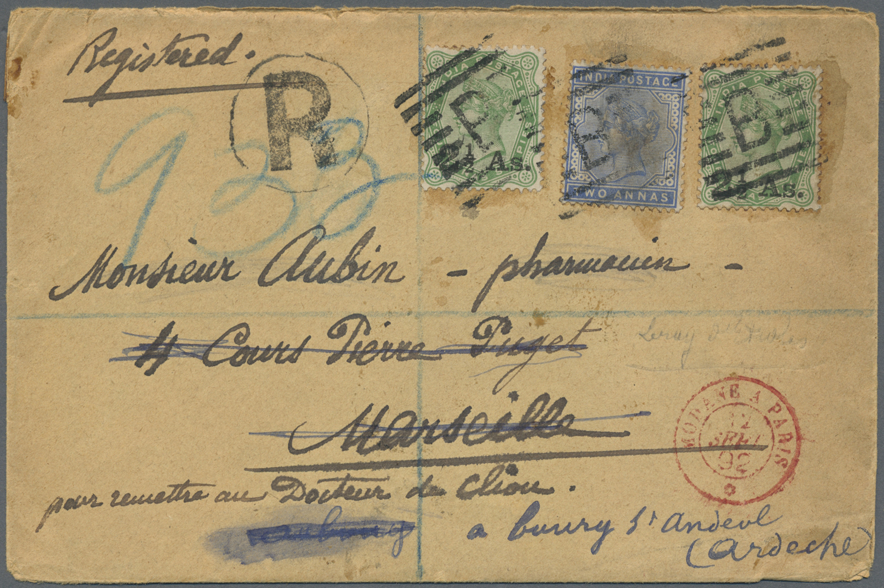 Lot 07119 - aden  -  Auktionshaus Christoph Gärtner GmbH & Co. KG Sale #43 Asia, Overseas, Air & Ships, Mail, Spain, Day 4