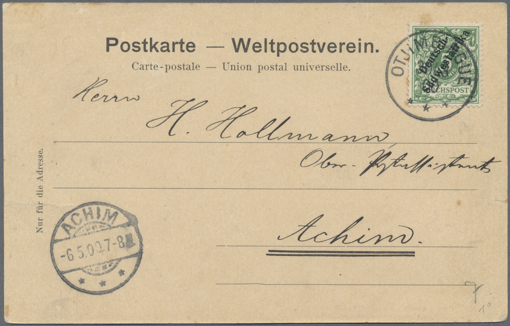 Lot 36916 - Deutsche Auslandspostämter + Kolonien  -  Auktionshaus Christoph Gärtner GmbH & Co. KG Sale #44 Collections Germany