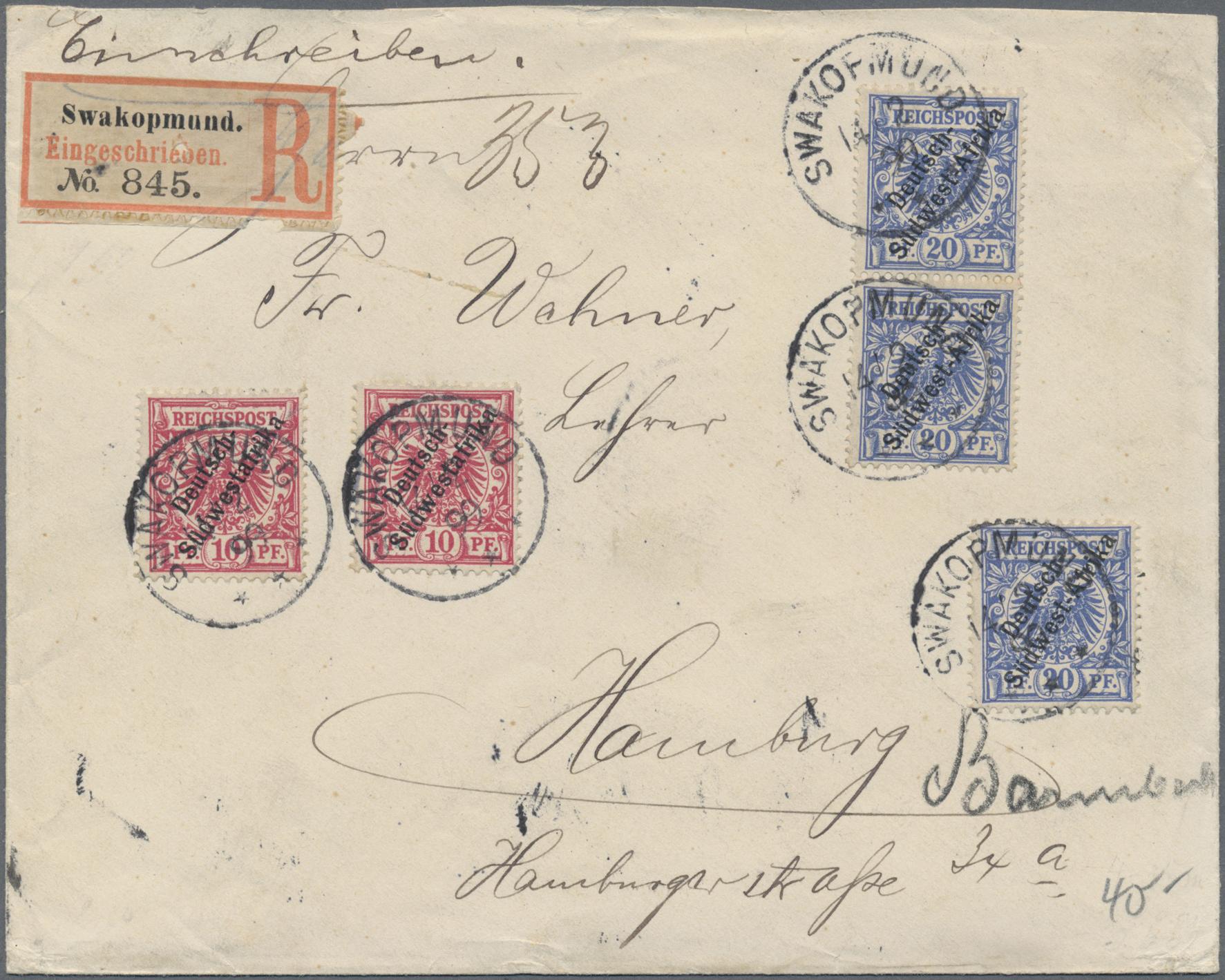 Lot 36944 - deutsch-südwestafrika  -  Auktionshaus Christoph Gärtner GmbH & Co. KG Sale #44 Collections Germany