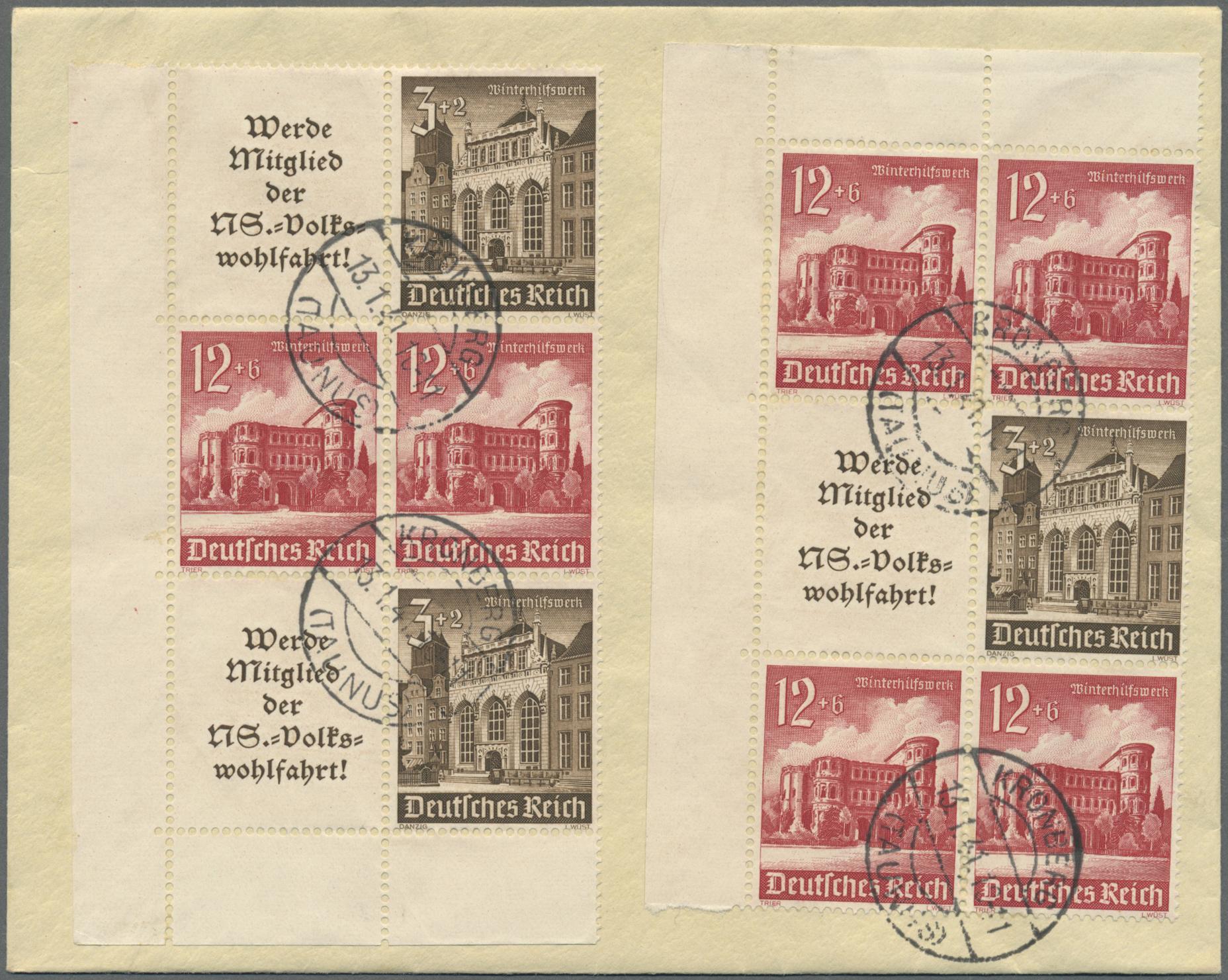 Deutsches Reich Karte 1943.Stamp Auction Deutsches Reich 3 Reich Collections